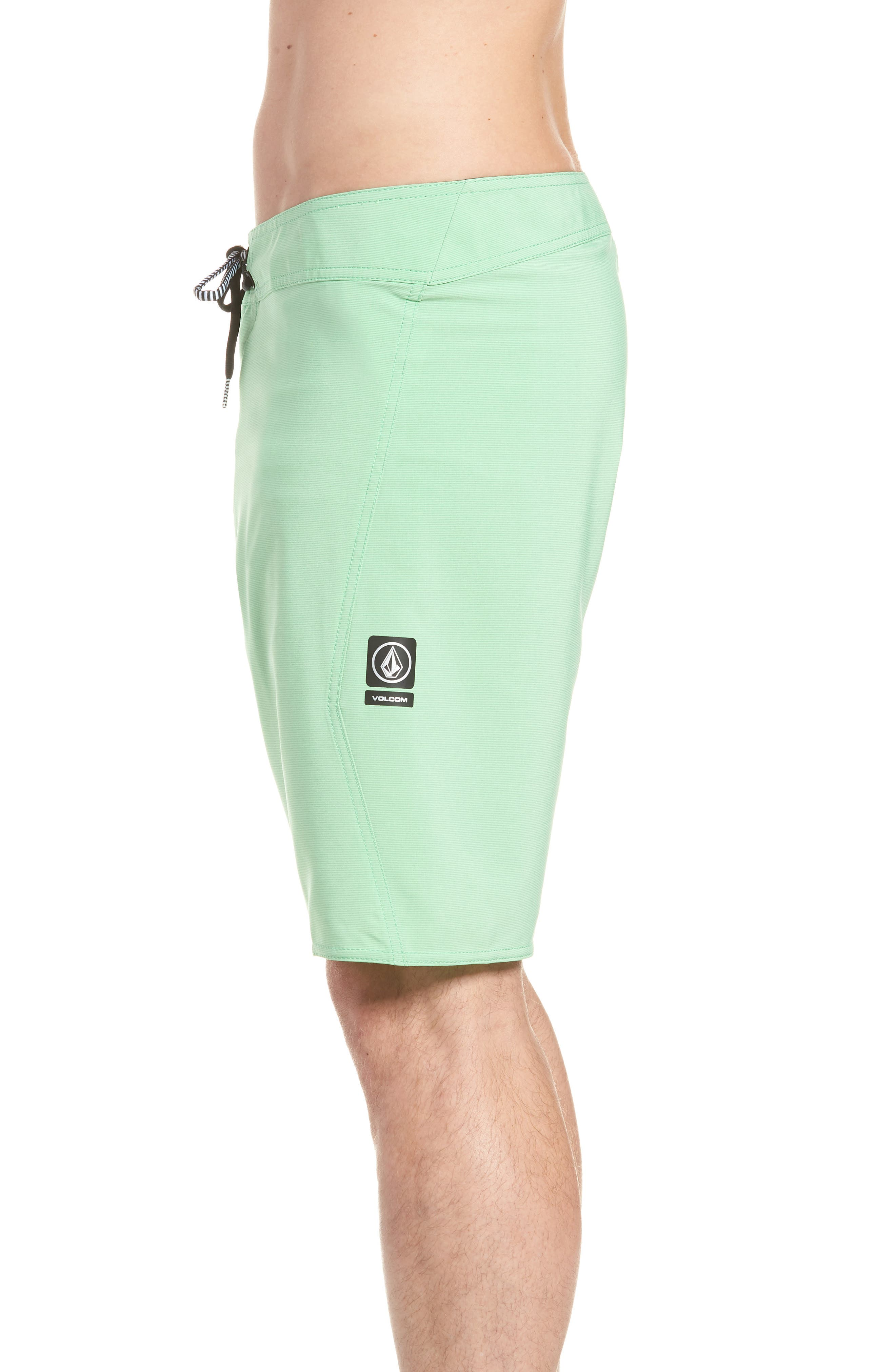 Lido Mod Board Shorts,                             Alternate thumbnail 4, color,                             POISON GREEN