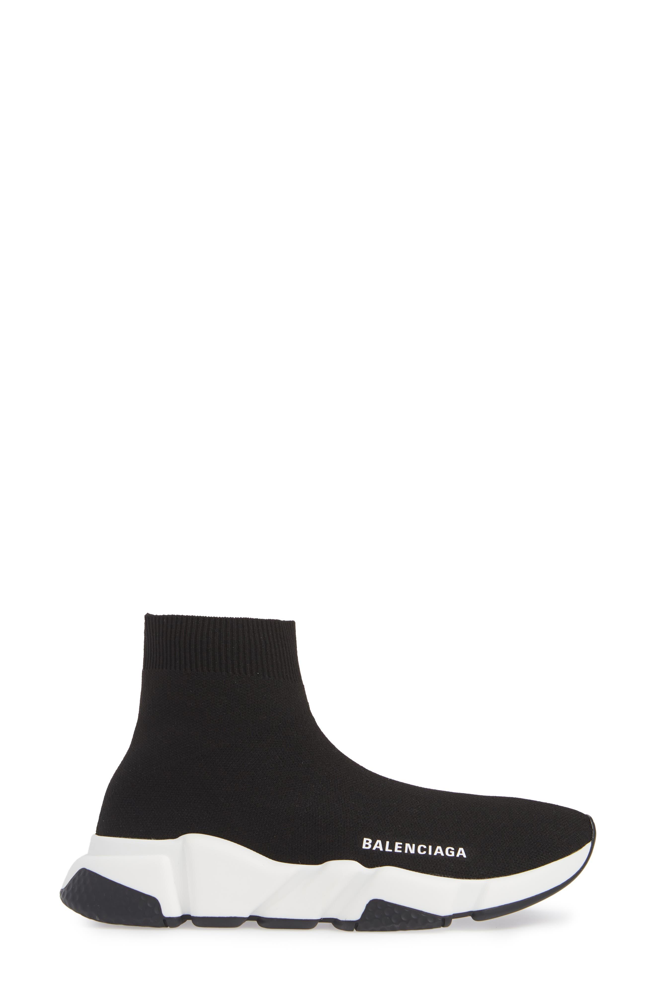 Speed Knit Sneaker,                             Alternate thumbnail 3, color,                             BLACK