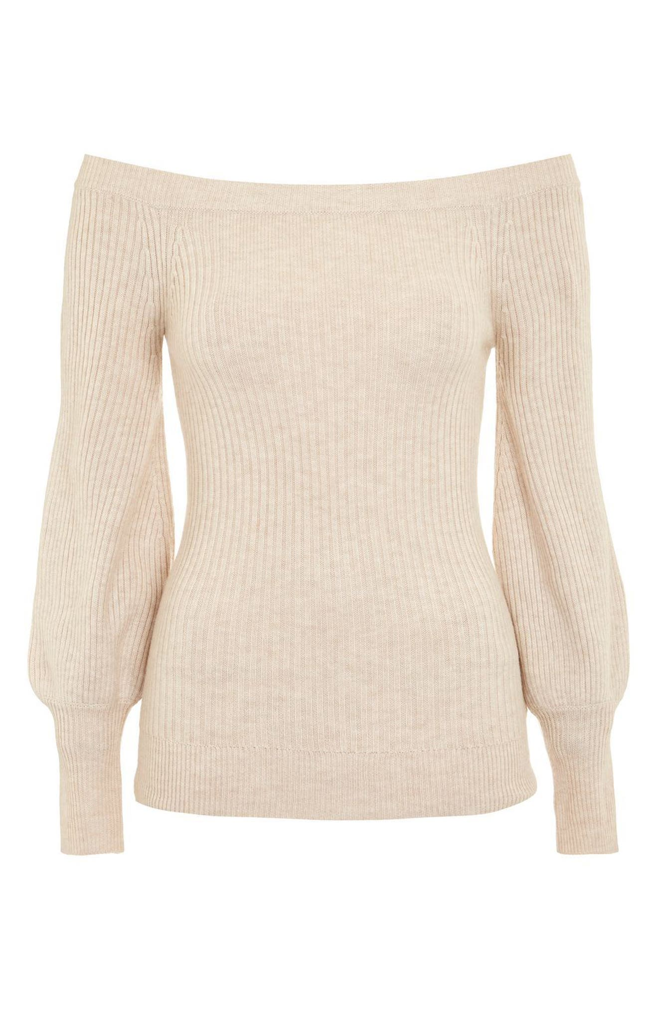 Off the Shoulder Sweater,                             Alternate thumbnail 3, color,                             251