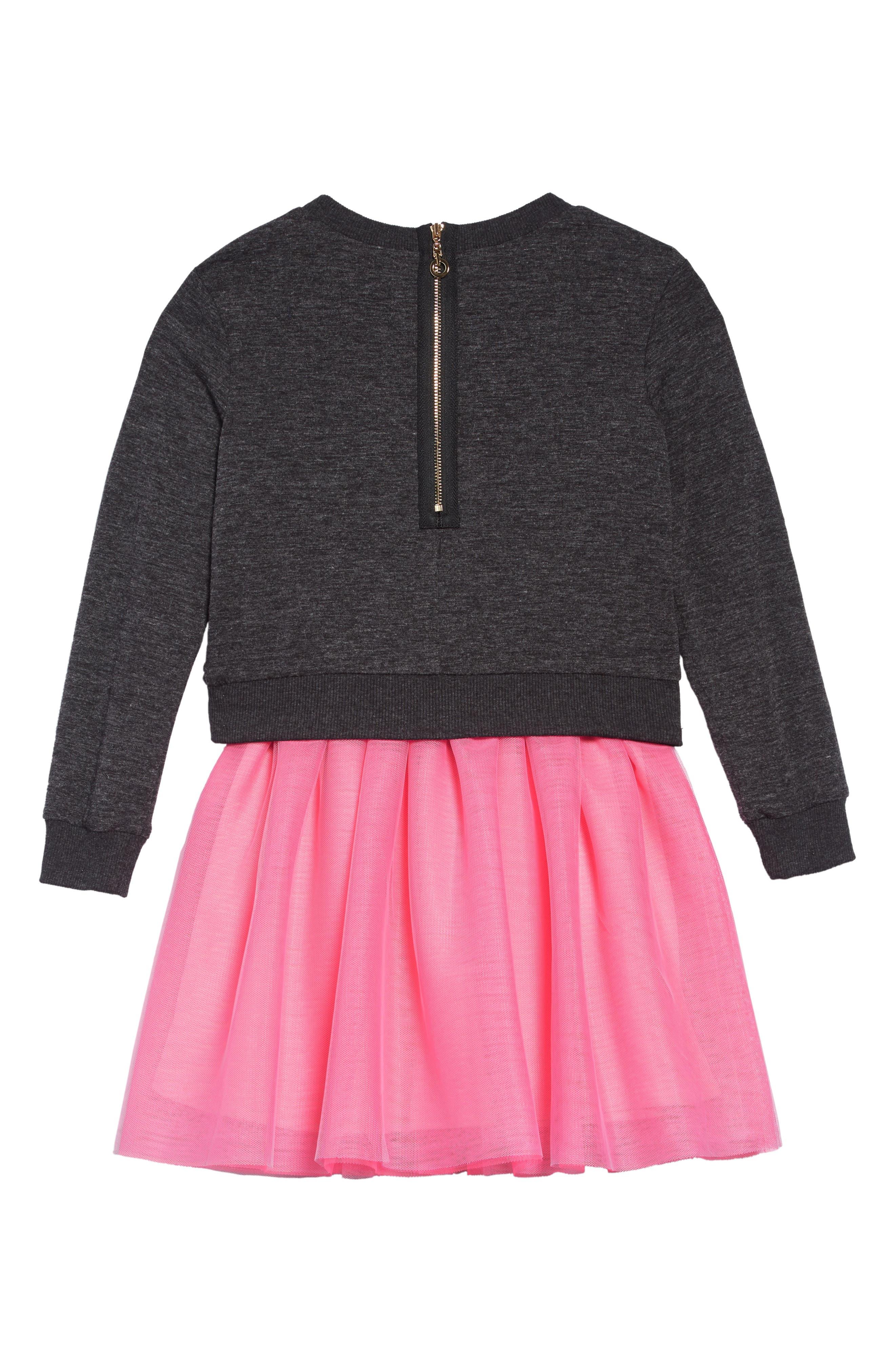 TRULY ME,                             Love Dress Set,                             Alternate thumbnail 2, color,                             GREY PINK