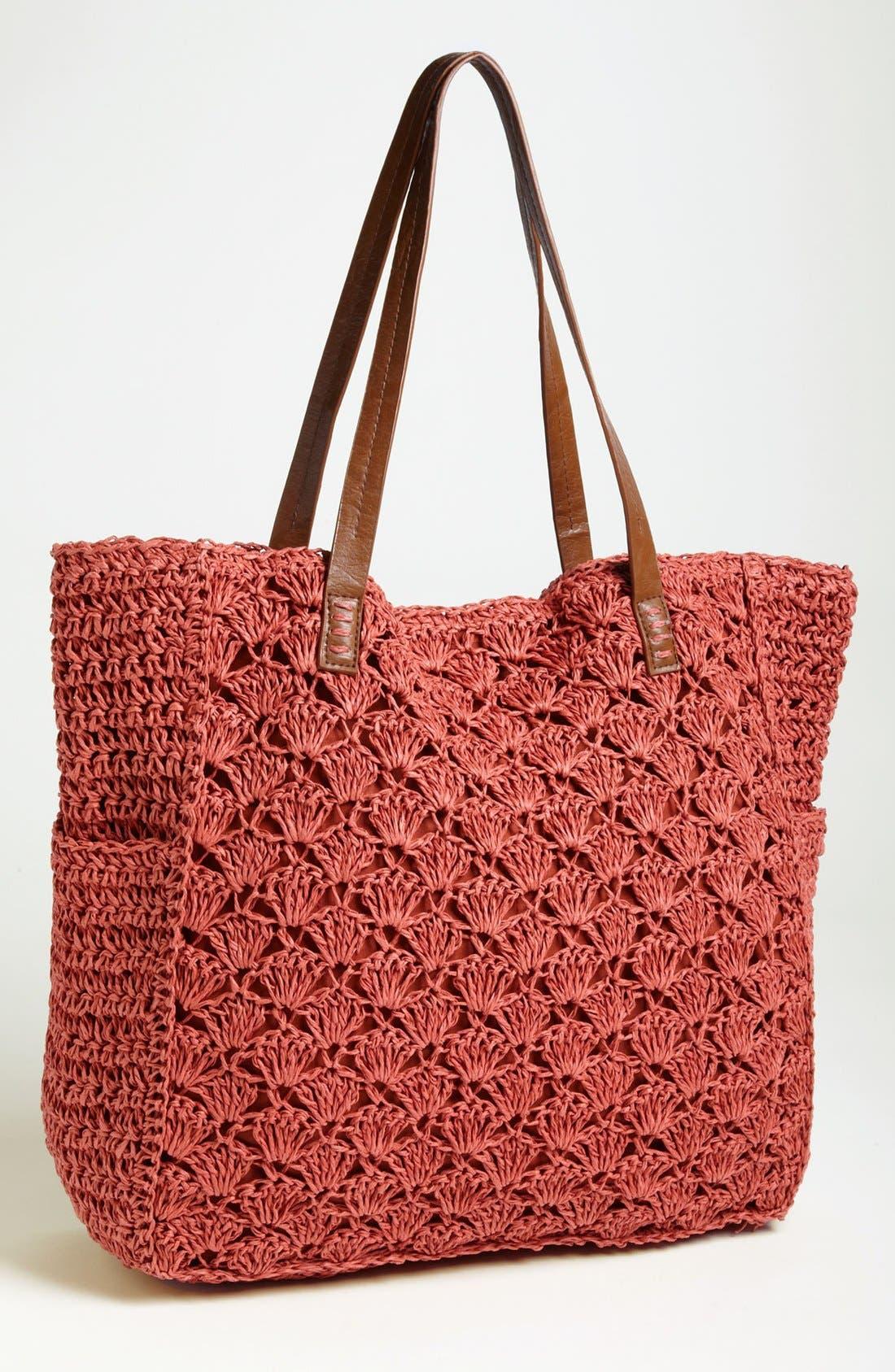 Crochet Tote,                             Main thumbnail 3, color,