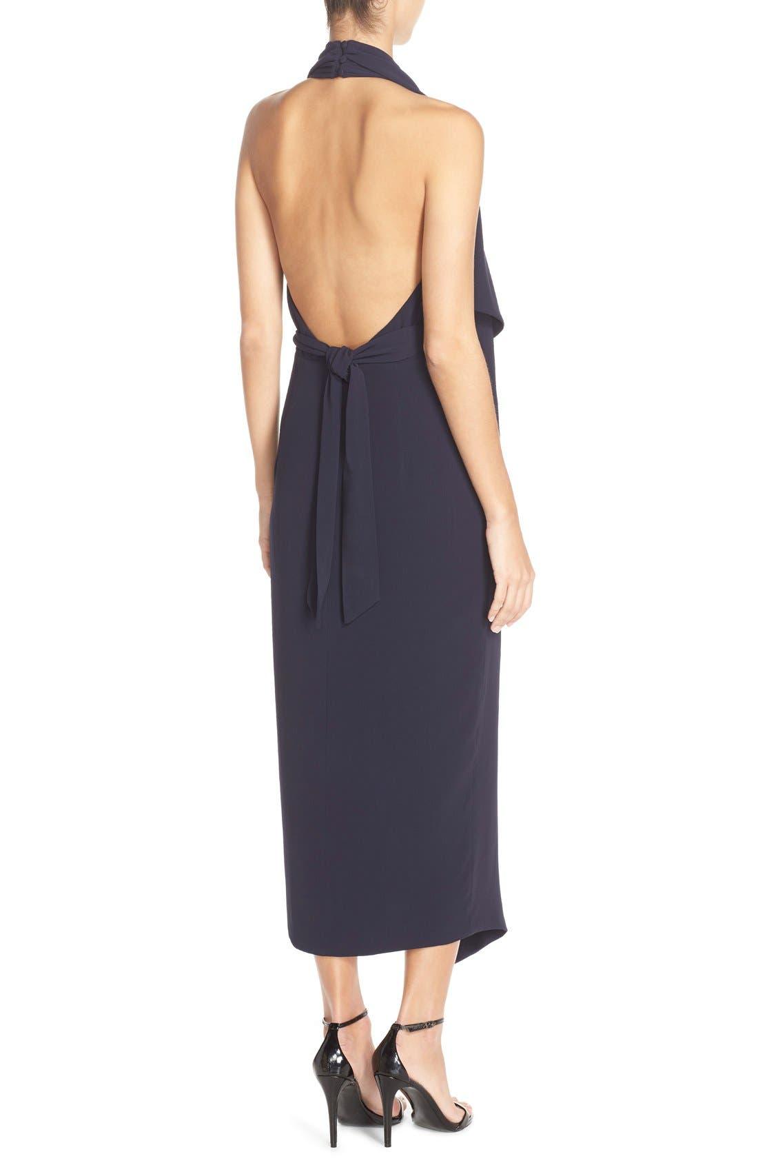 Crepe Halter Dress,                             Alternate thumbnail 5, color,                             410