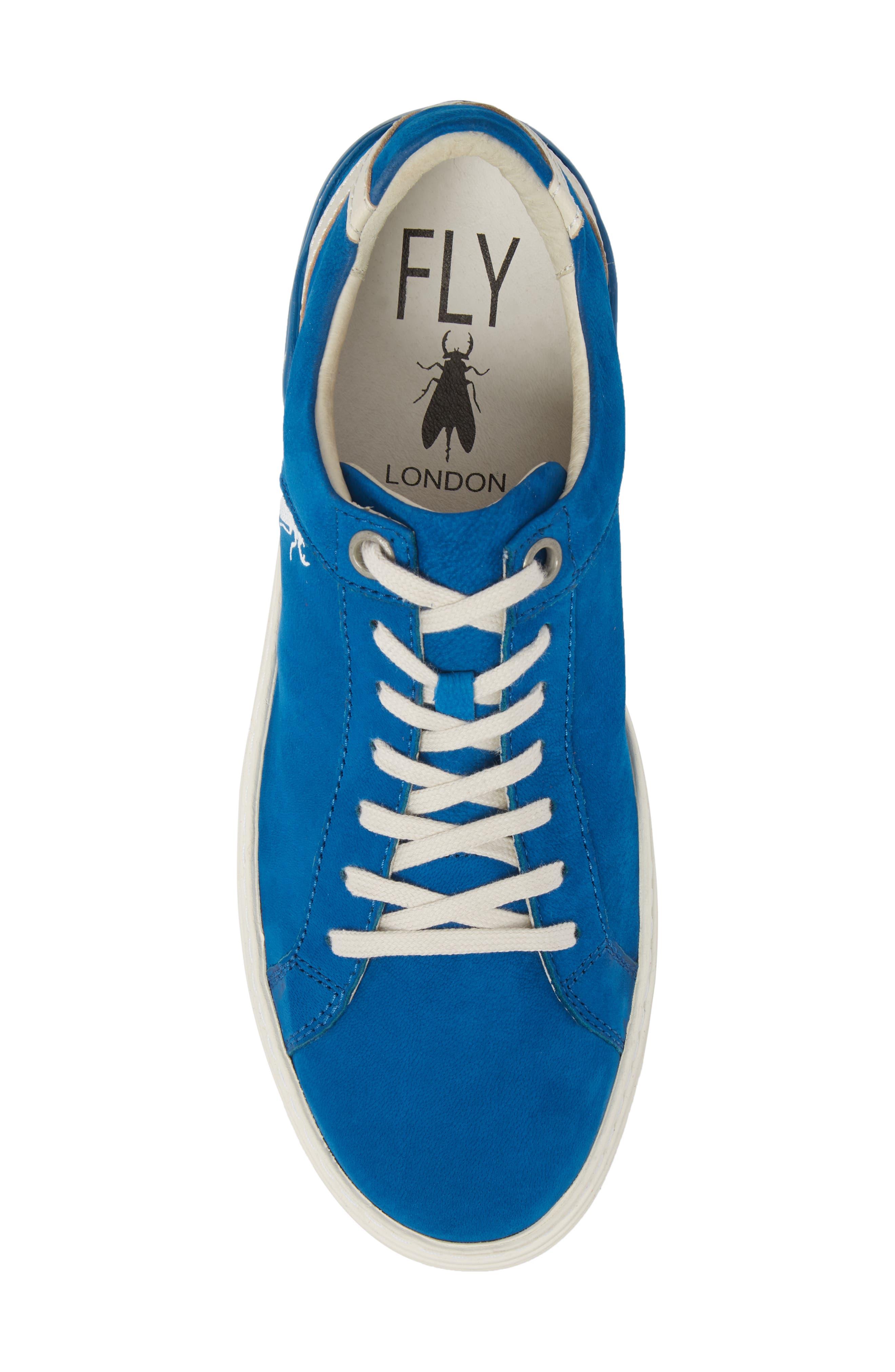 Sene Low Top Sneaker,                             Alternate thumbnail 5, color,                             ELECTRIC BLUE LEATHER