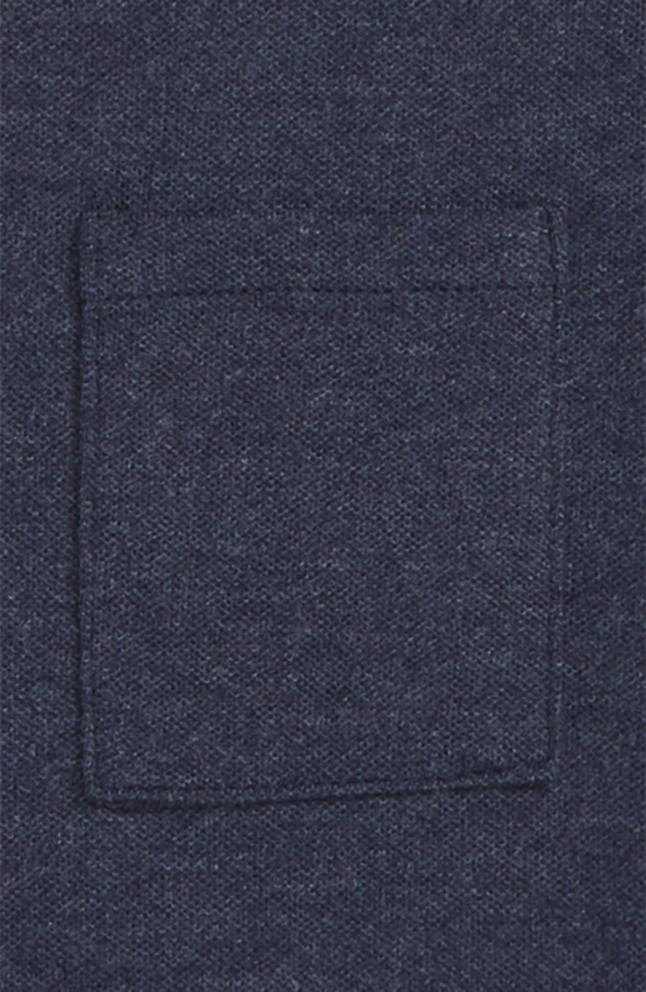 Suburb T-Shirt,                             Alternate thumbnail 2, color,                             HEATHER NAVY PIQUE
