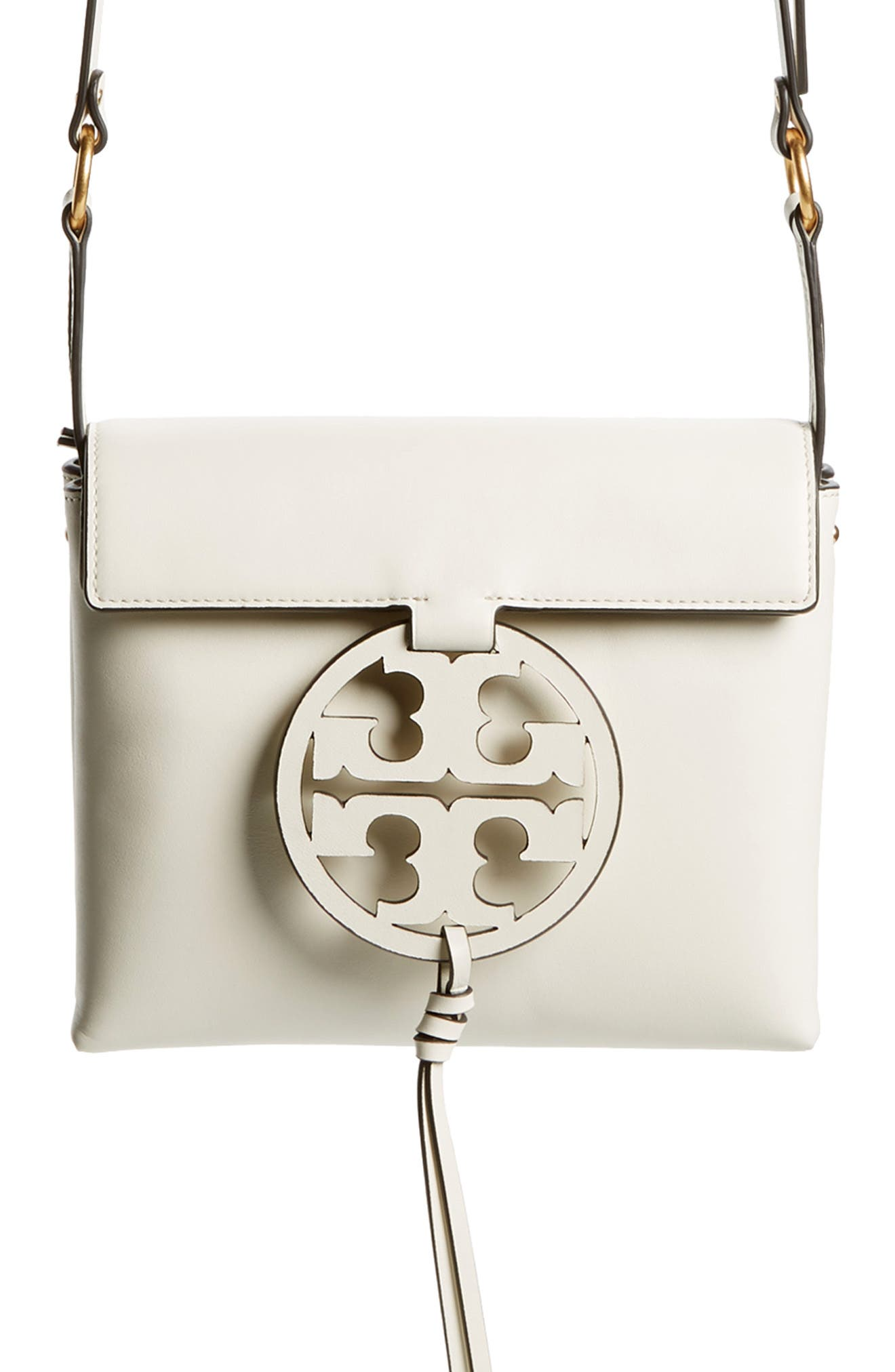 TORY BURCH,                             Miller Leather Crossbody Bag,                             Alternate thumbnail 7, color,                             107