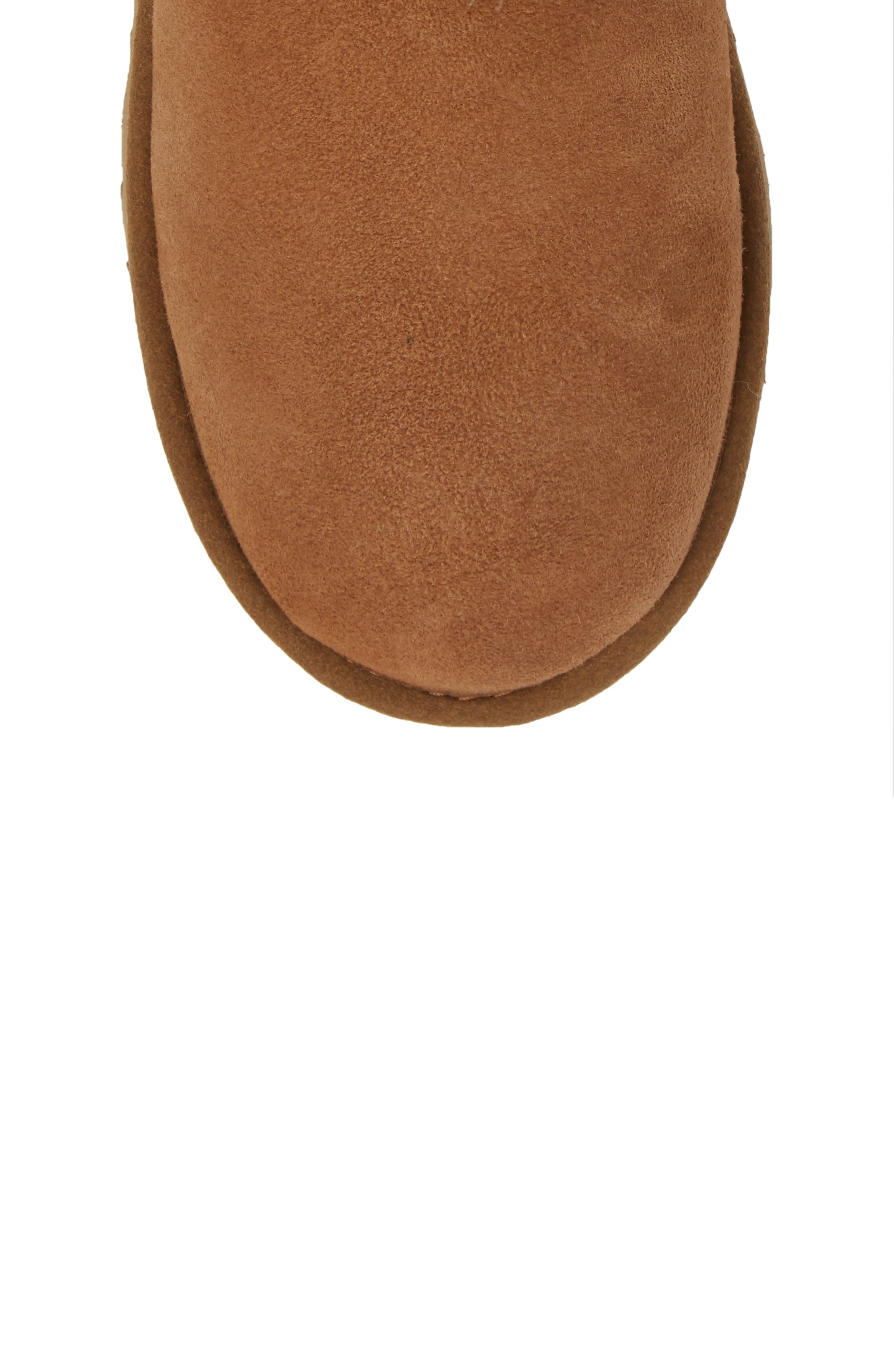 Pala Water-Resistant Genuine Shearling Boot,                             Alternate thumbnail 5, color,                             CHESTNUT