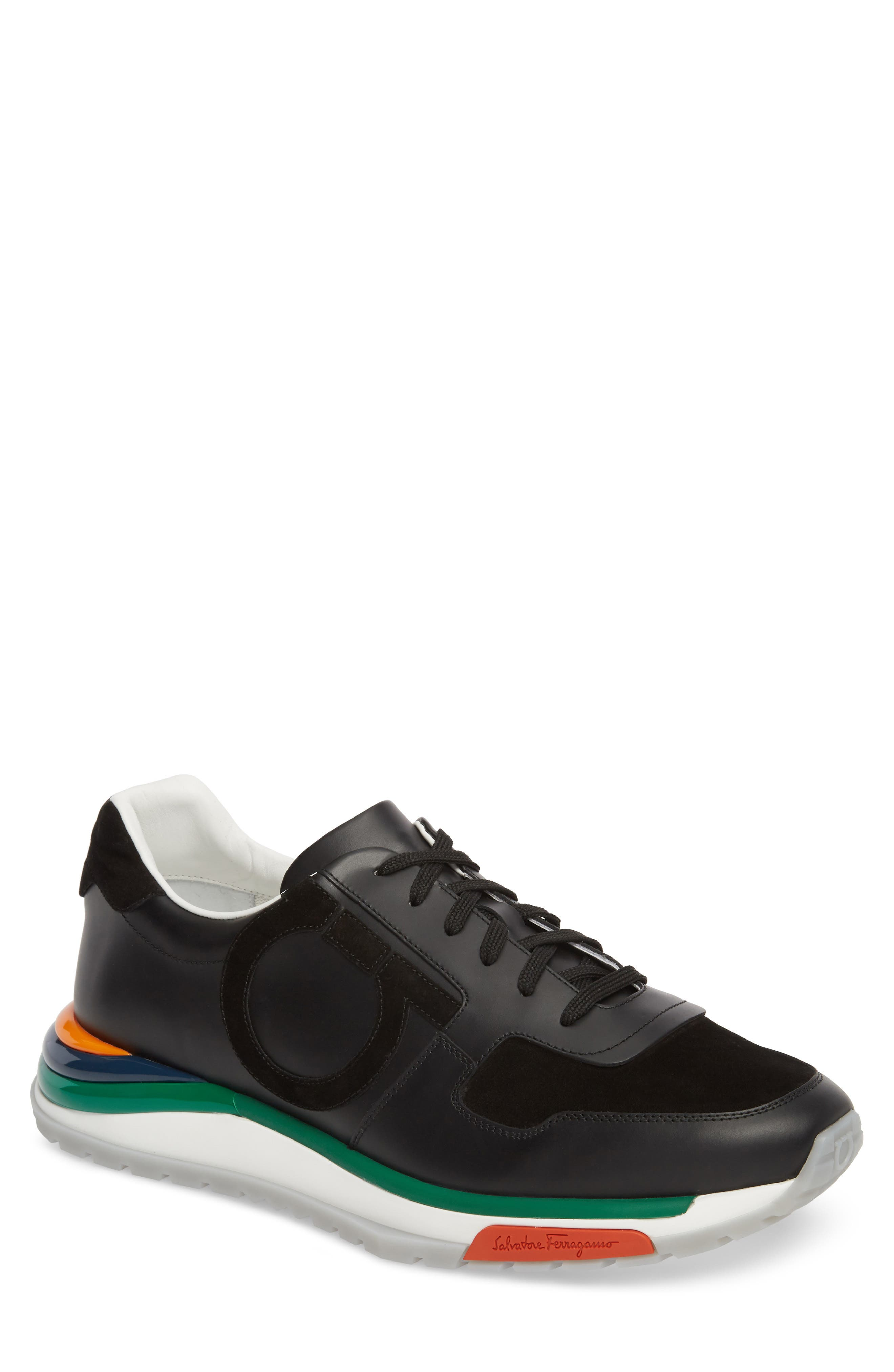 Brooklyn Running Shoe,                             Main thumbnail 1, color,                             NERO LEATHER