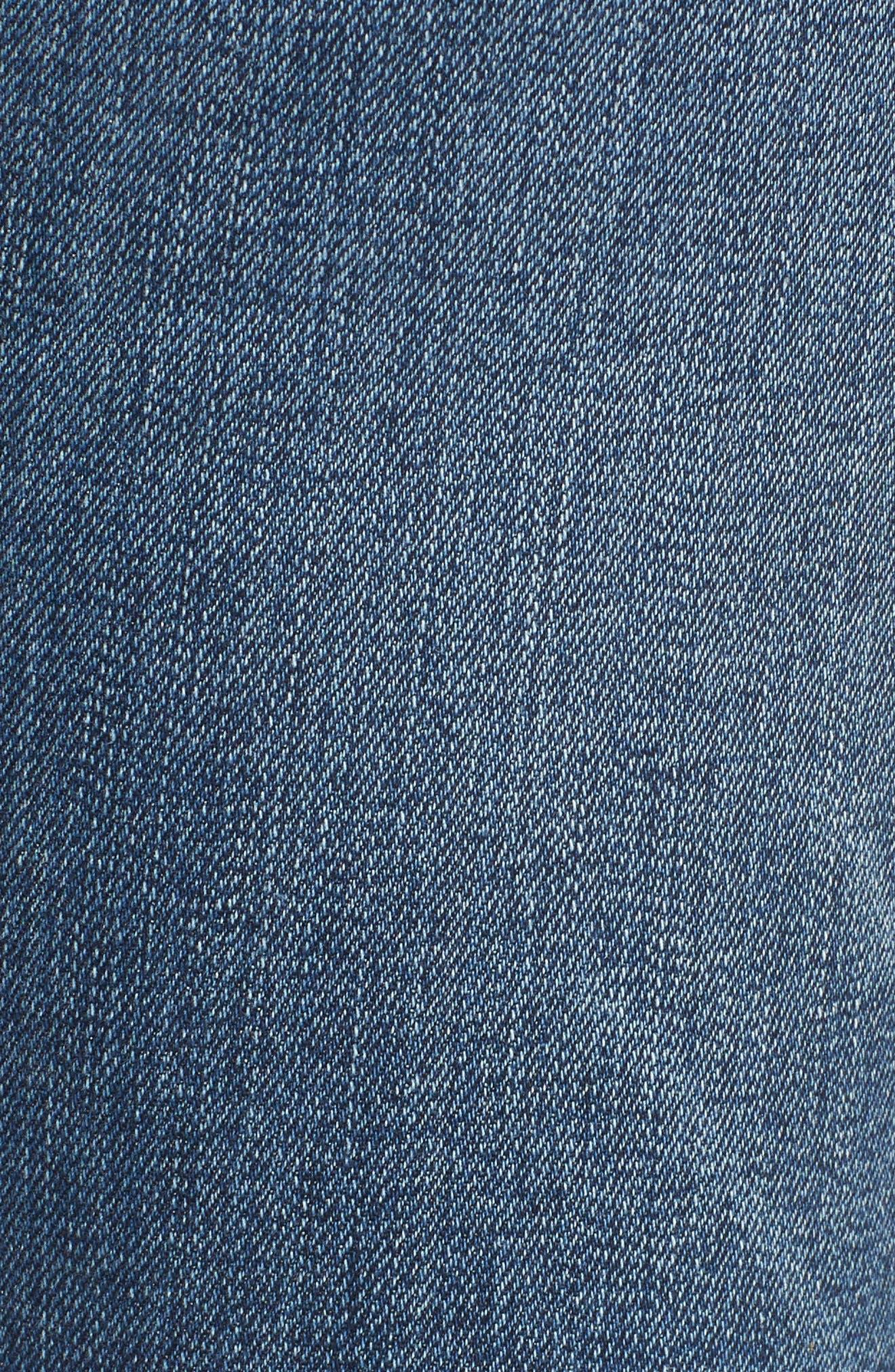 Hudson Barbara High Waist Ankle Skinny Jeans,                             Alternate thumbnail 6, color,                             CONTENDER