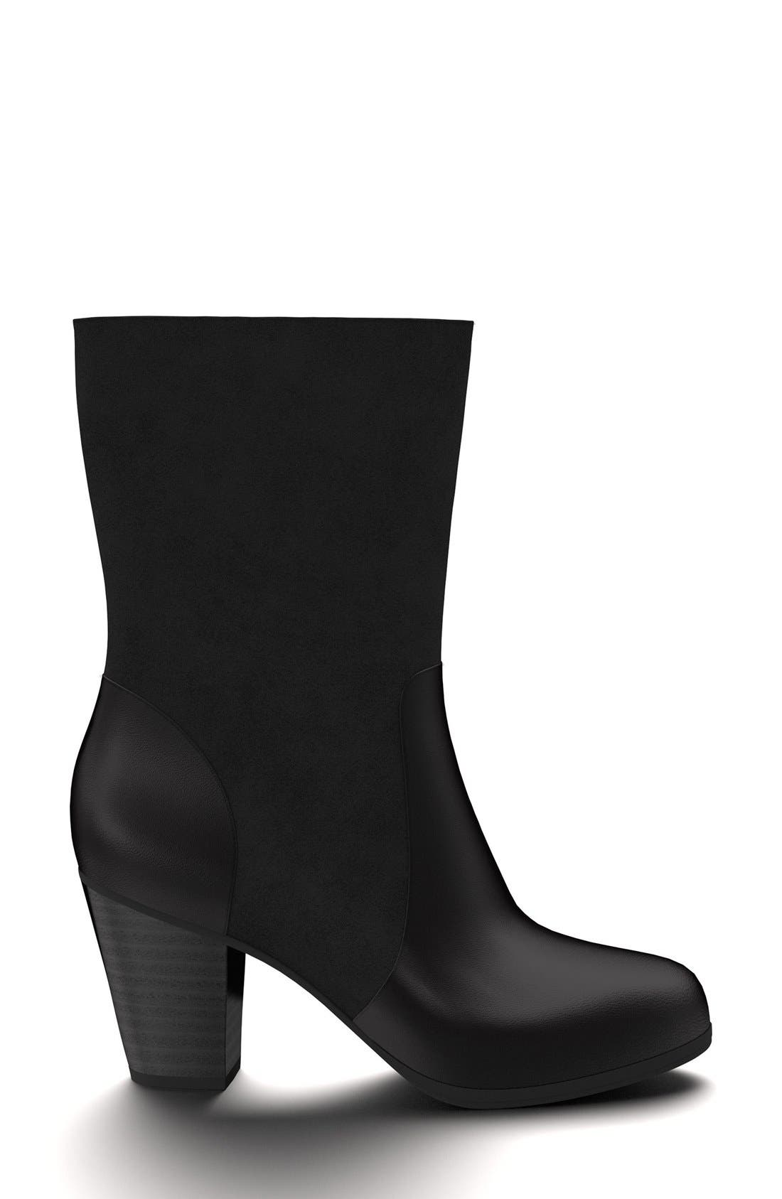 Block Heel Boot,                             Alternate thumbnail 3, color,                             001