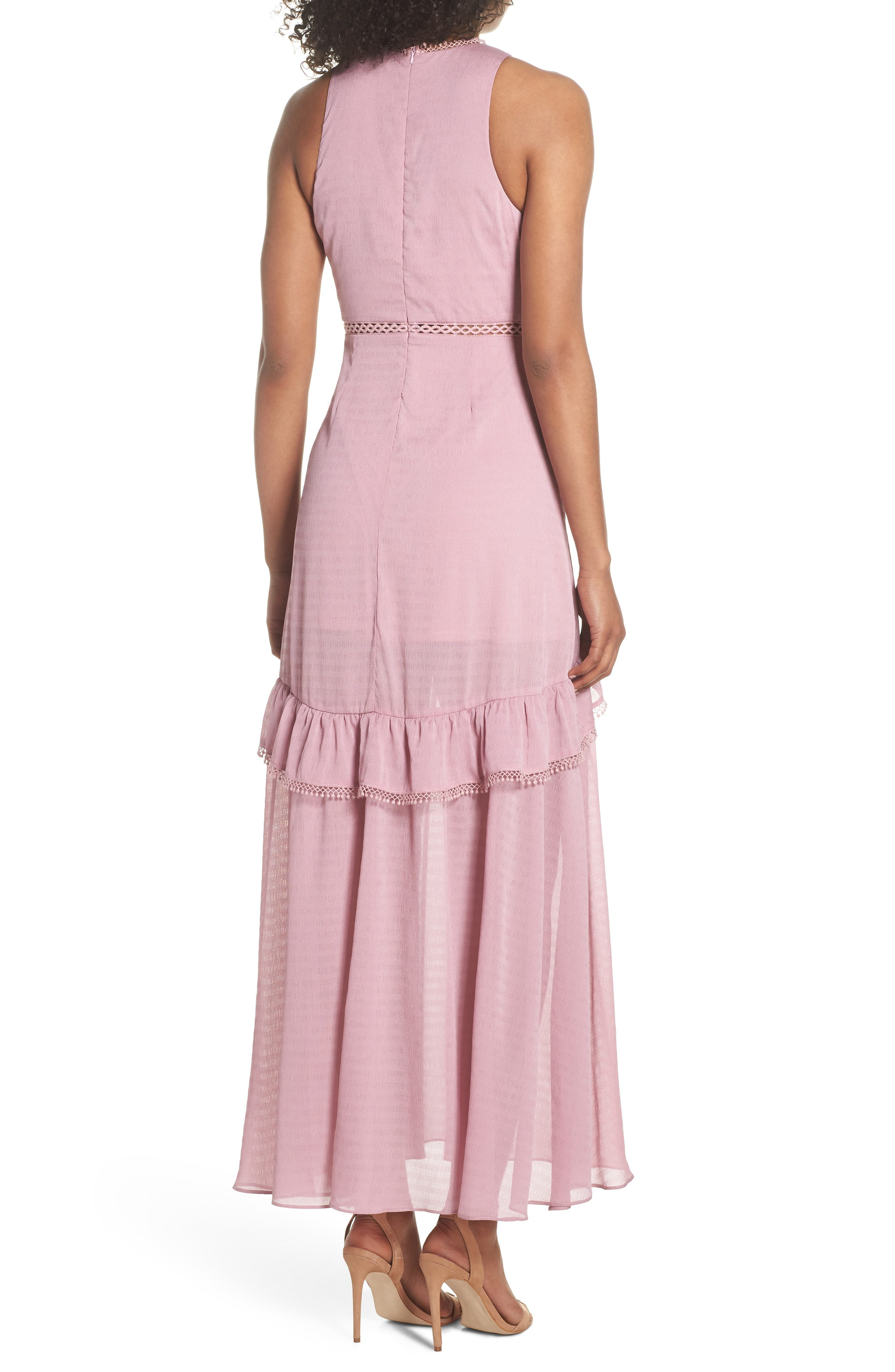 Sleeveless Ruffle Maxi Dress,                             Alternate thumbnail 2, color,                             525