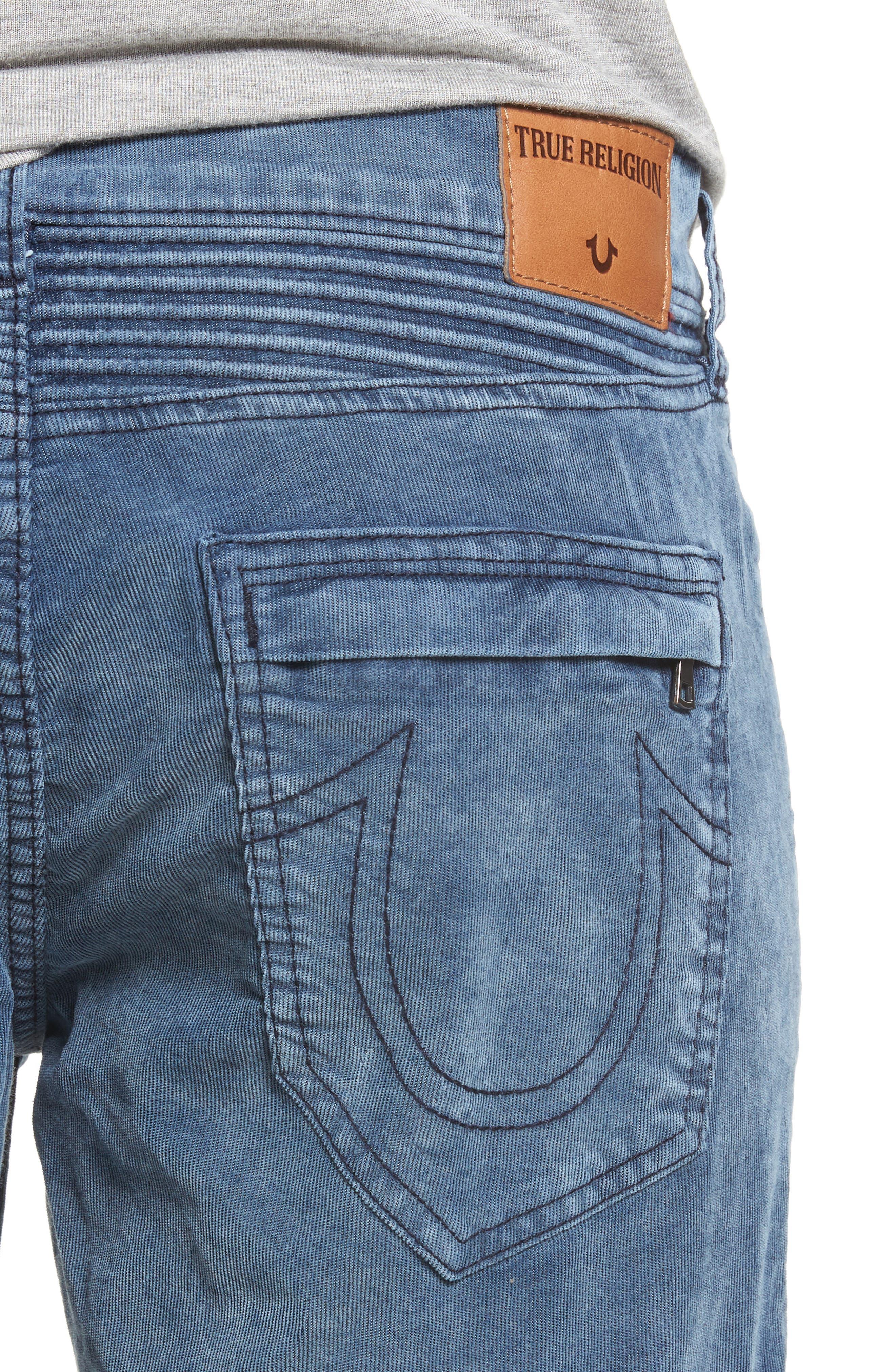 Geno Straight Leg Corduroy Moto Pants,                             Alternate thumbnail 4, color,                             401