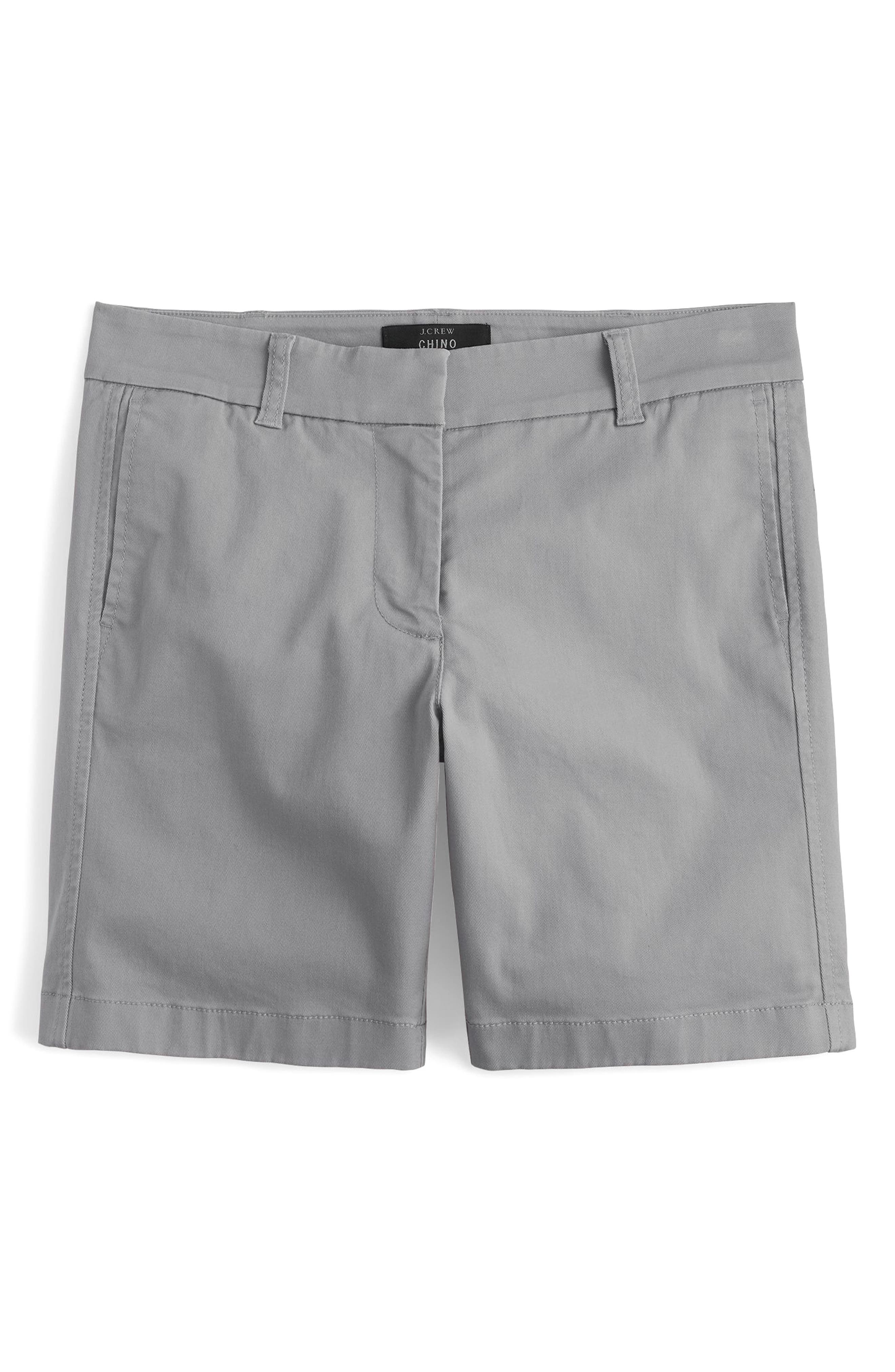 Stretch Cotton Chino Shorts,                             Alternate thumbnail 3, color,                             020