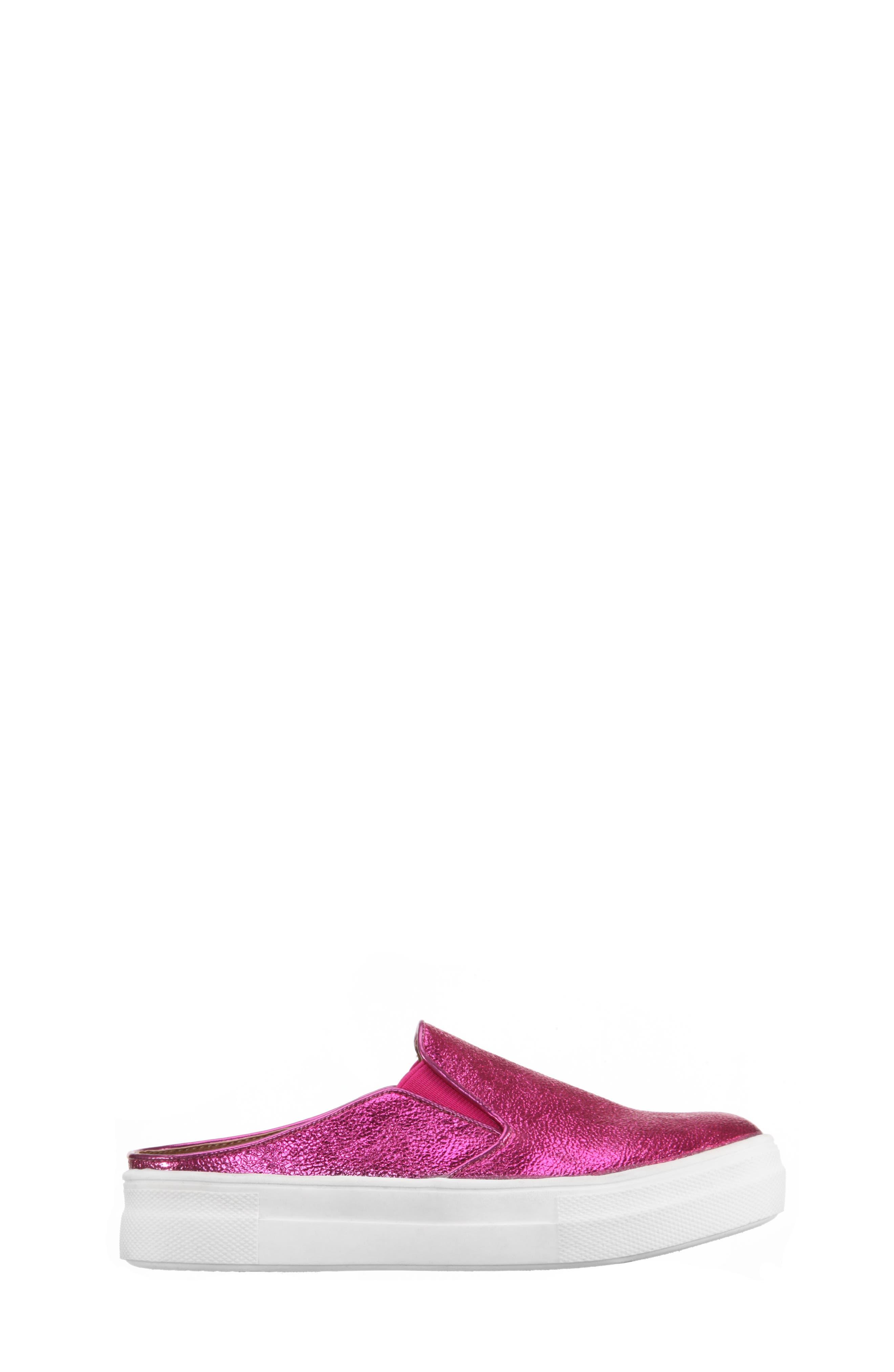 Gail Metallic Slip-On Sneaker Mule,                             Alternate thumbnail 9, color,