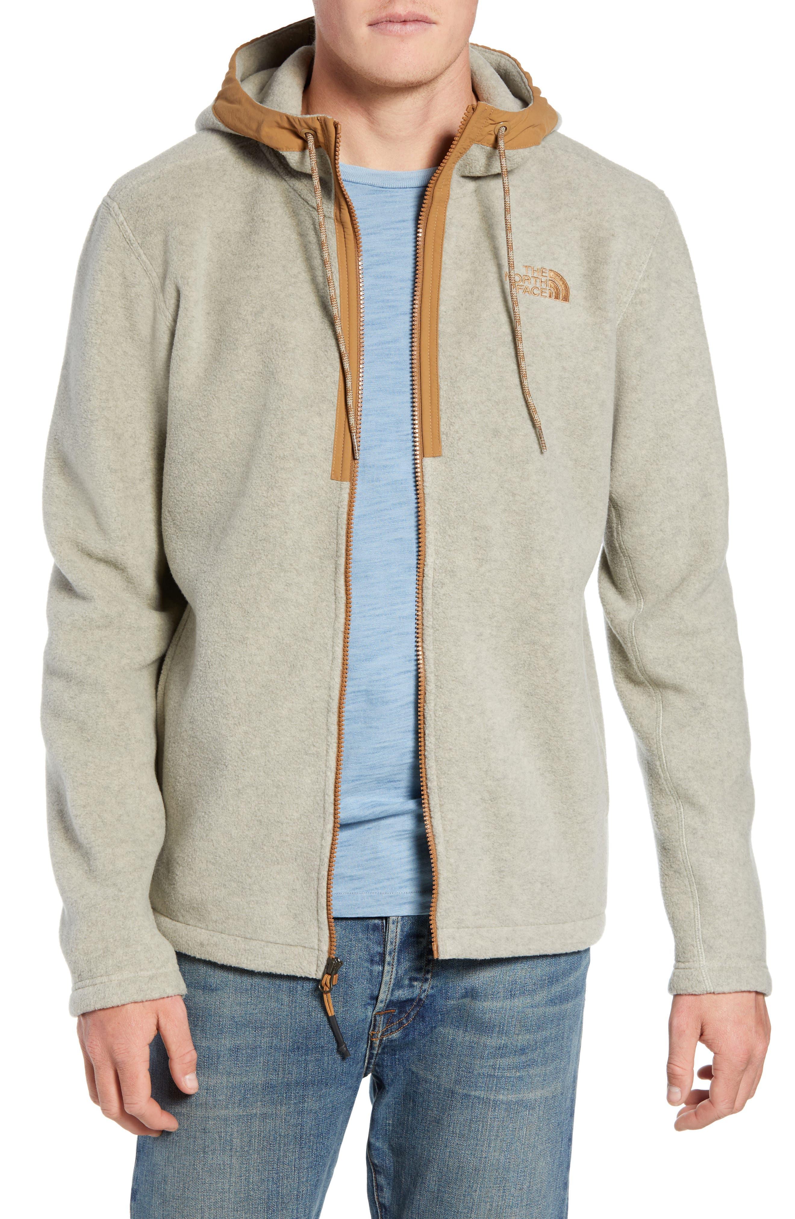 Pyrite Sweater Knit Fleece Hoodie,                         Main,                         color, GRANITE BLUFF TAN HEATHER