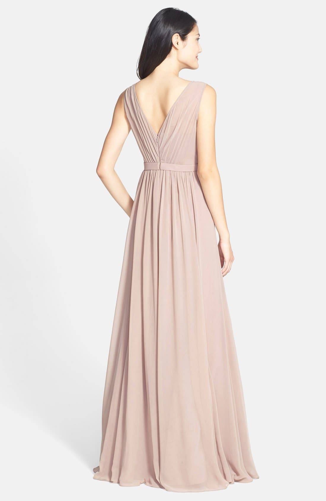 Vivienne Pleated Chiffon Gown,                             Alternate thumbnail 25, color,
