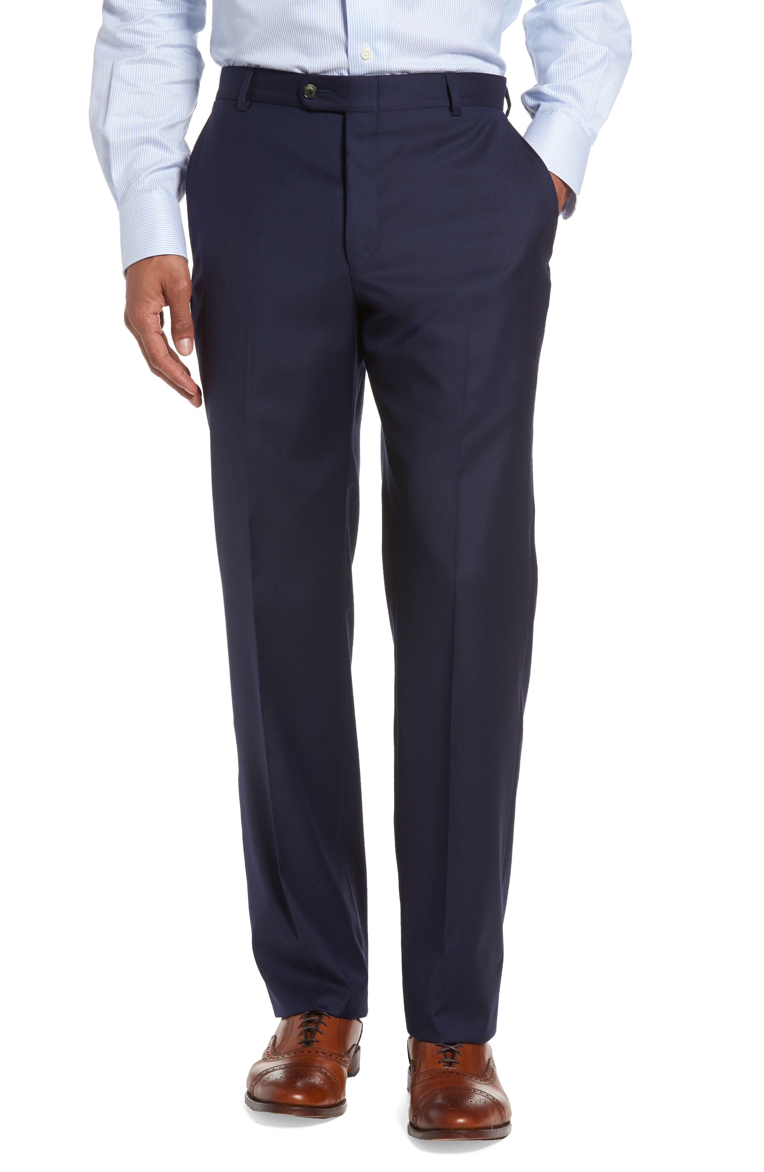 Classic B Fit Loro Piana Wool Suit,                             Alternate thumbnail 6, color,                             NAVY