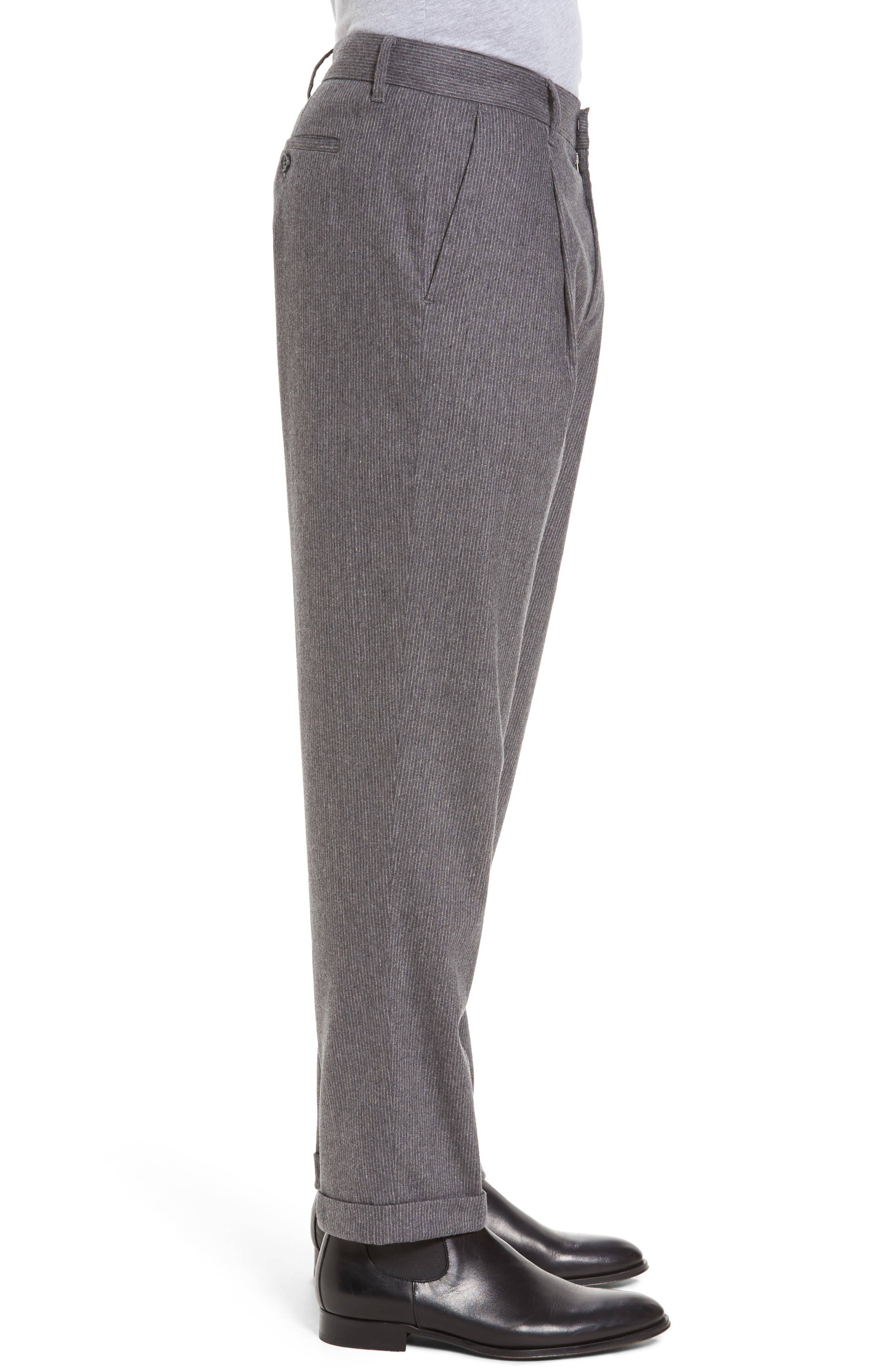 Rushmore Pinstripe Stretch Wool Blend Trousers,                             Alternate thumbnail 3, color,                             020