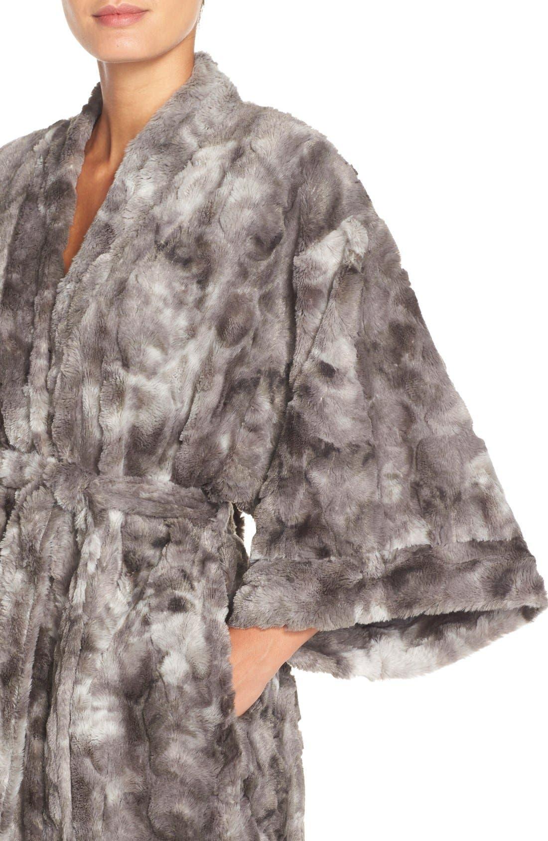 Faux Fur Robe,                             Alternate thumbnail 2, color,                             020