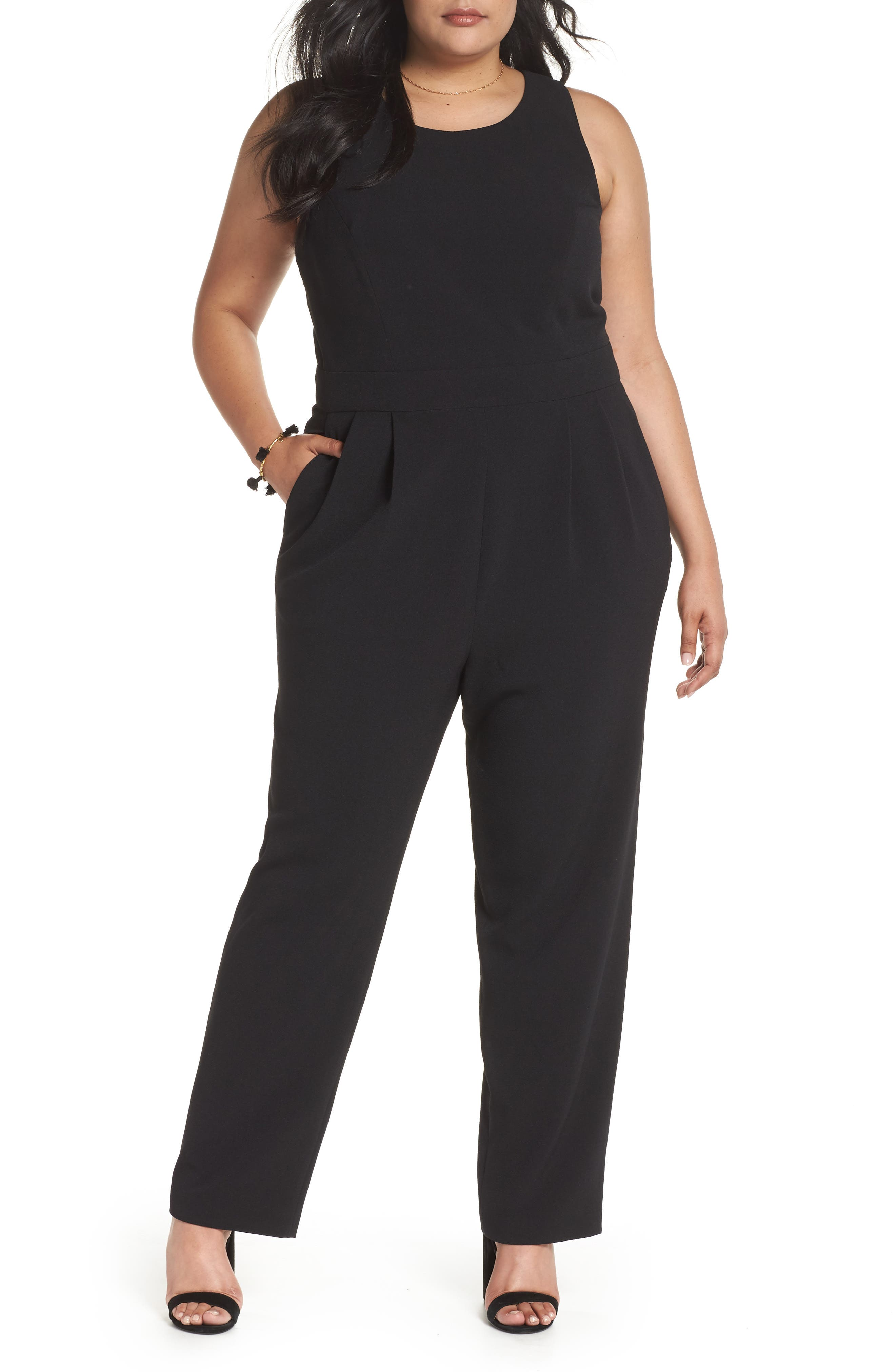 Bow Back Jumpsuit,                         Main,                         color, 001