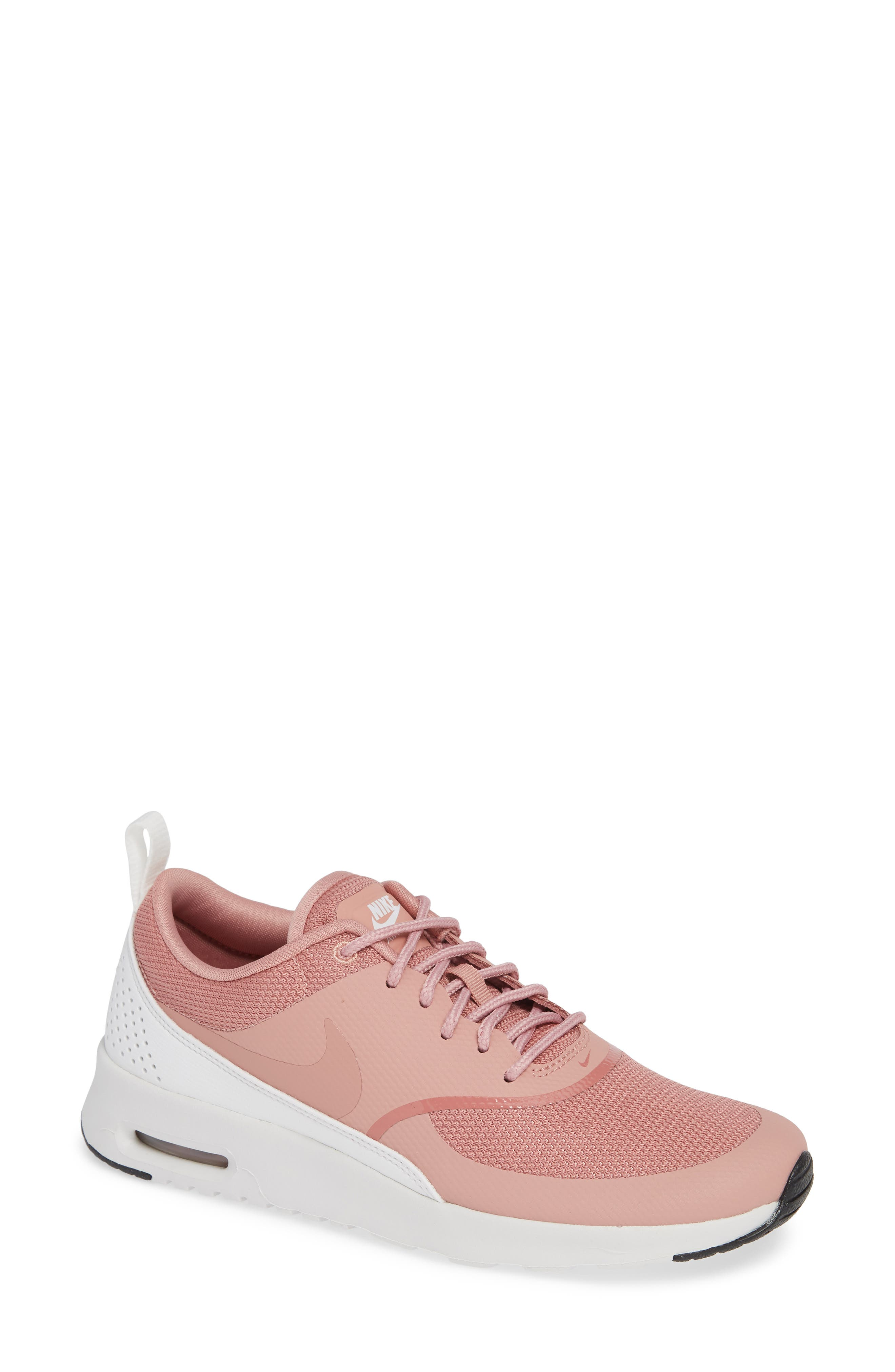 Air Max Thea Sneaker,                             Main thumbnail 1, color,                             RUST PINK/ WHITE/ BLACK