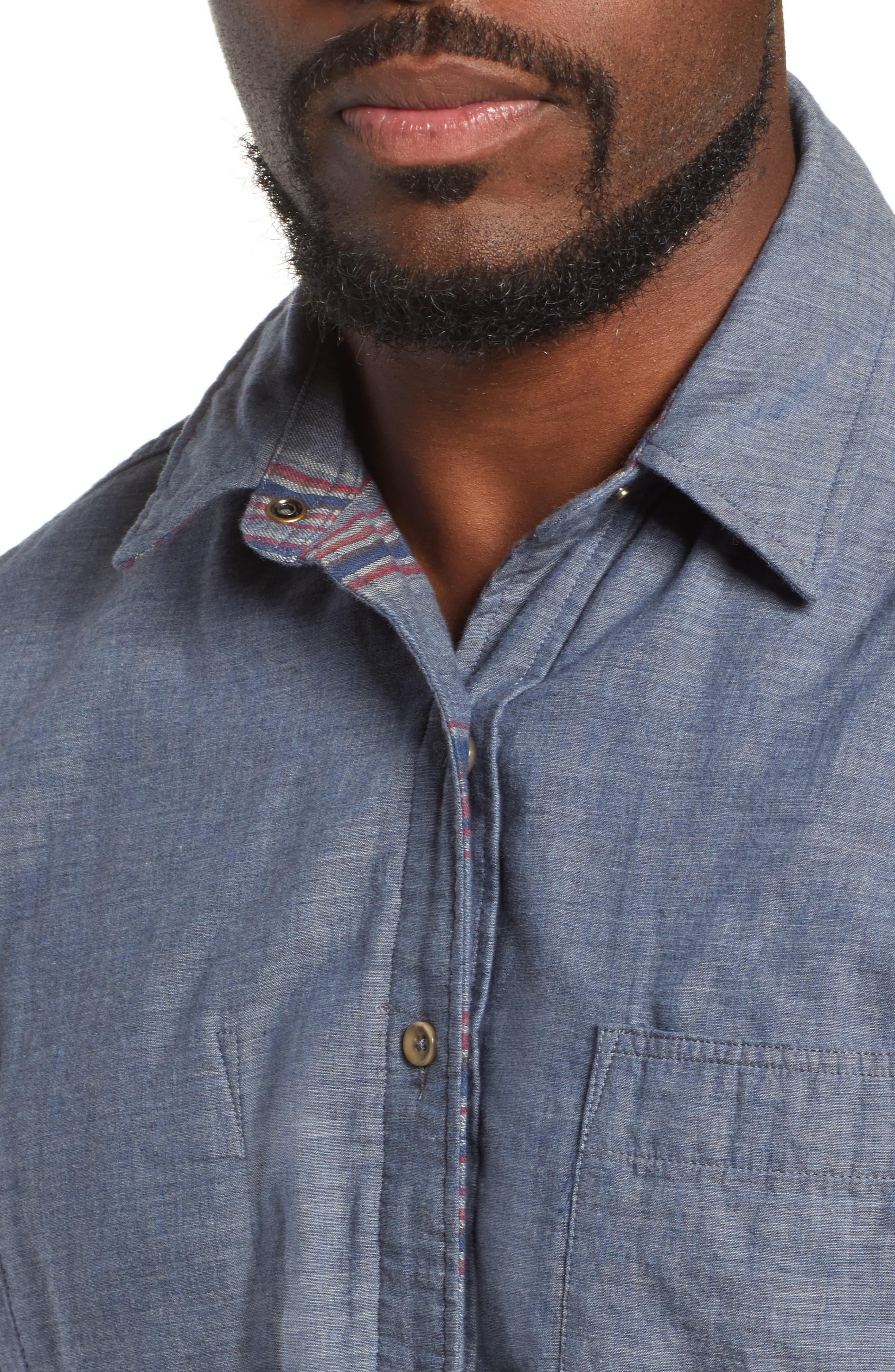 Belmar Reversible Sport Shirt,                             Alternate thumbnail 3, color,                             SLATE HEATHER / SERAPE