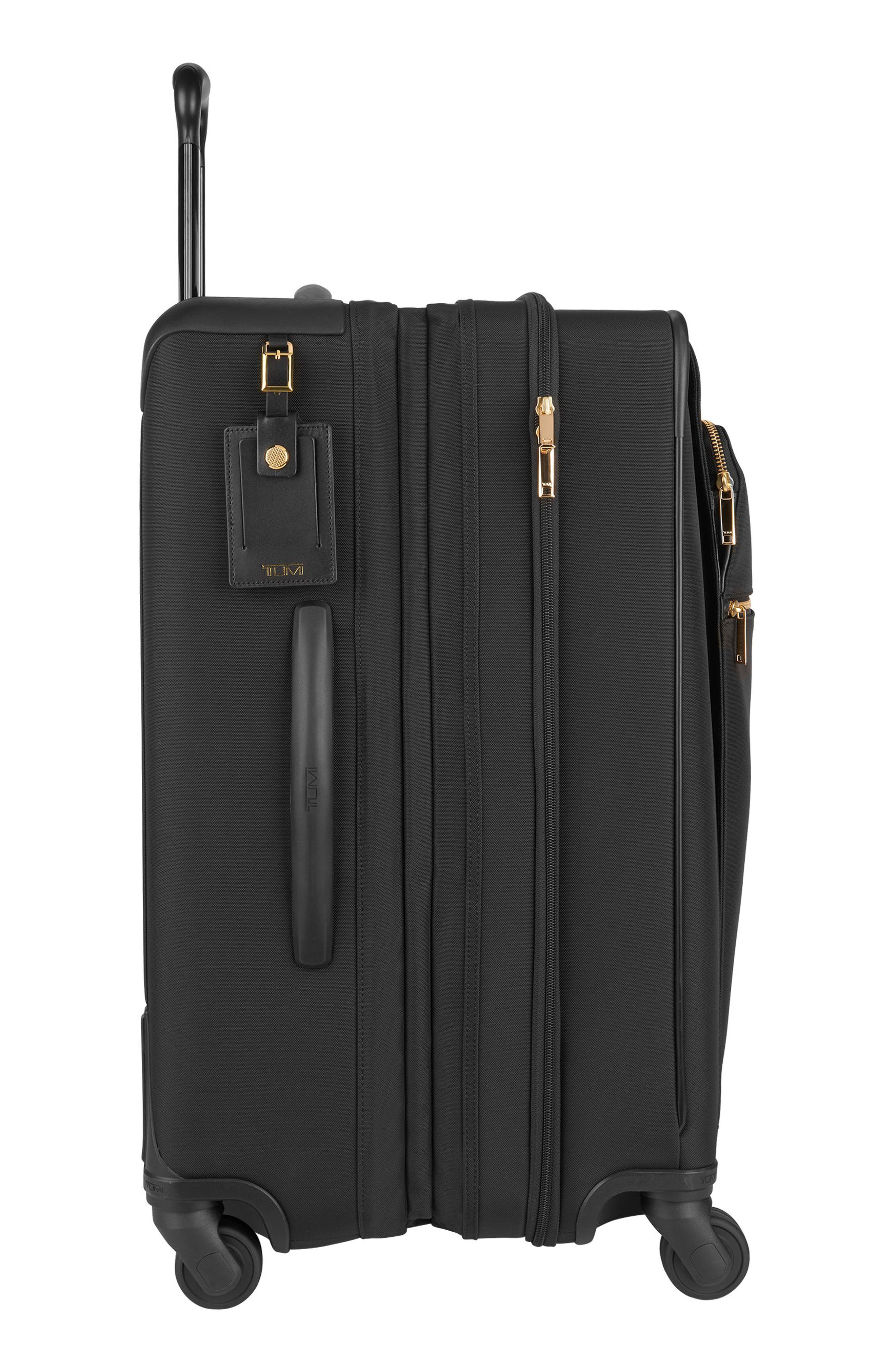 Larkin - Jess Short Trip 26-Inch Expandable 4-Wheel Suitcase,                             Alternate thumbnail 5, color,                             BLACK