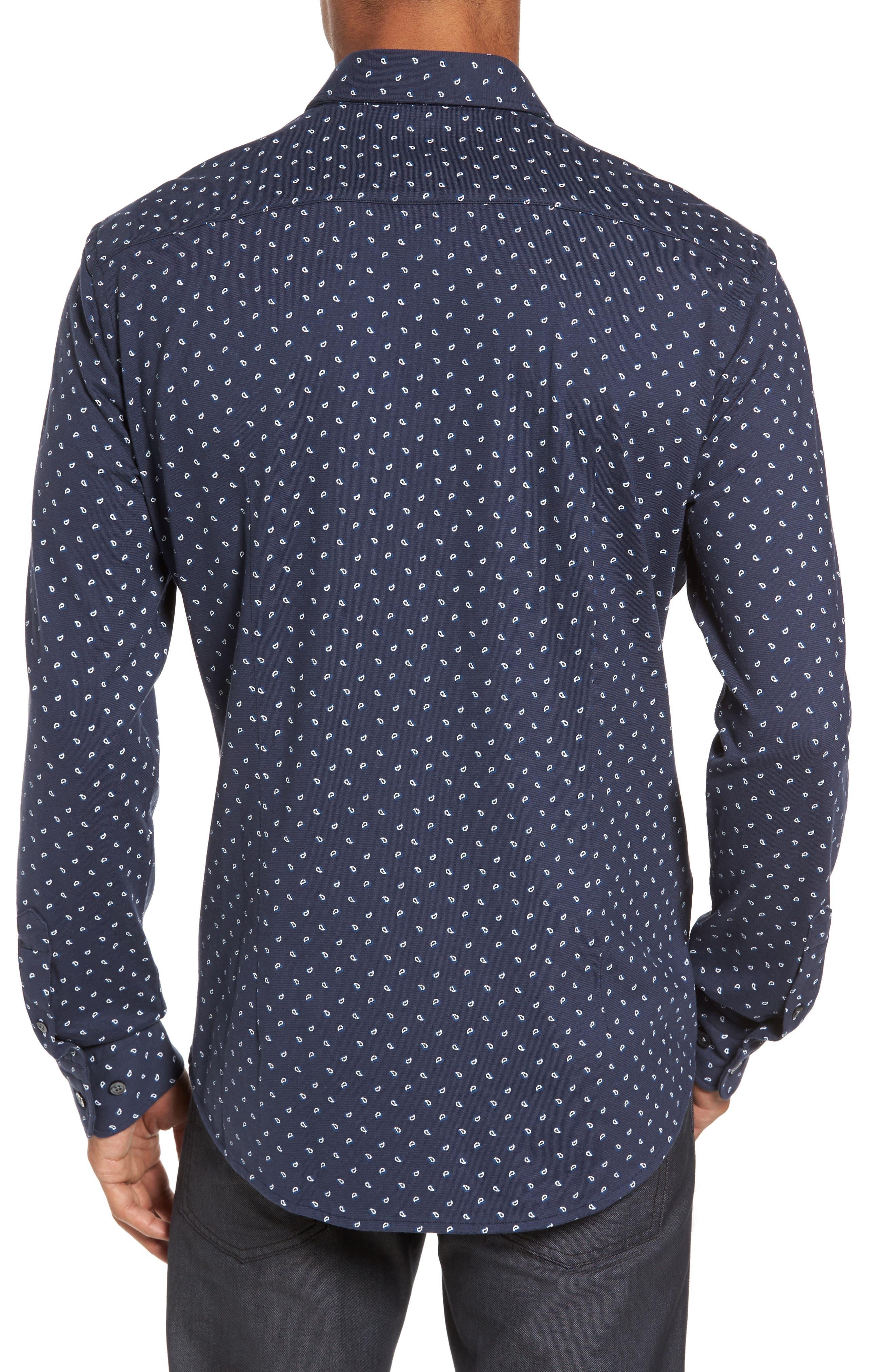 Sharp Fit Paisley Sport Shirt,                             Alternate thumbnail 2, color,                             410
