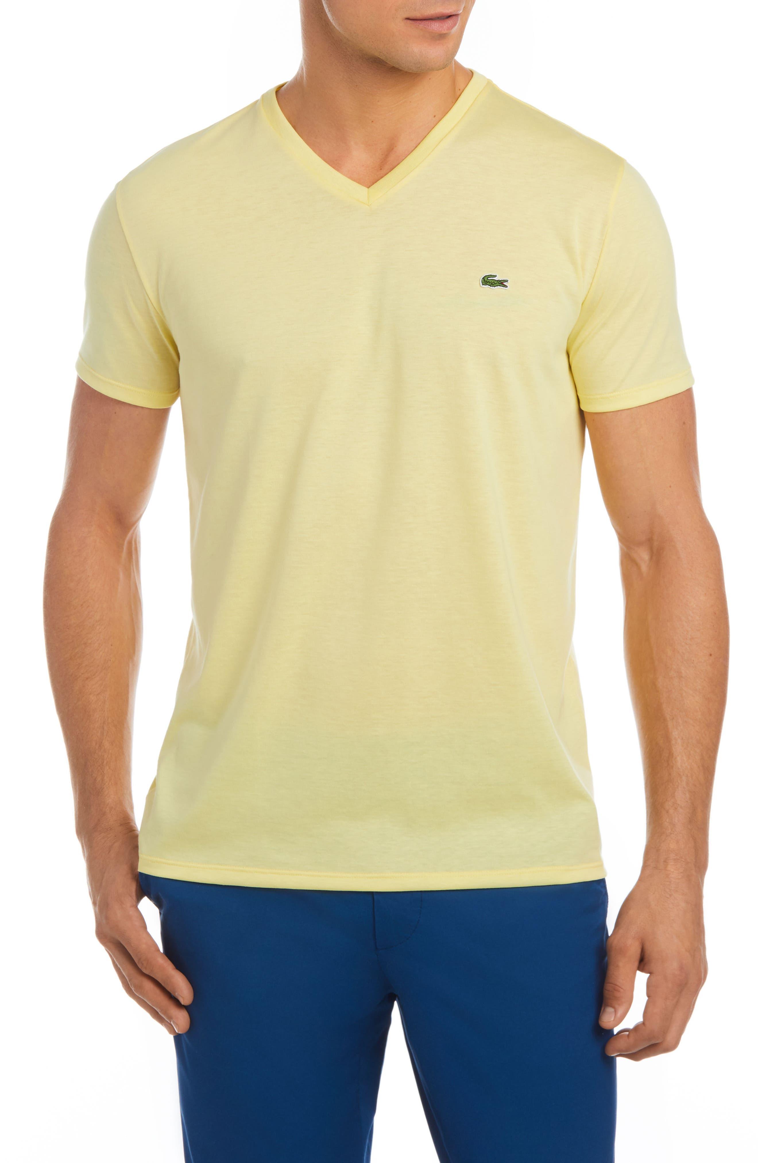 V-Neck Cotton T-Shirt,                             Main thumbnail 9, color,