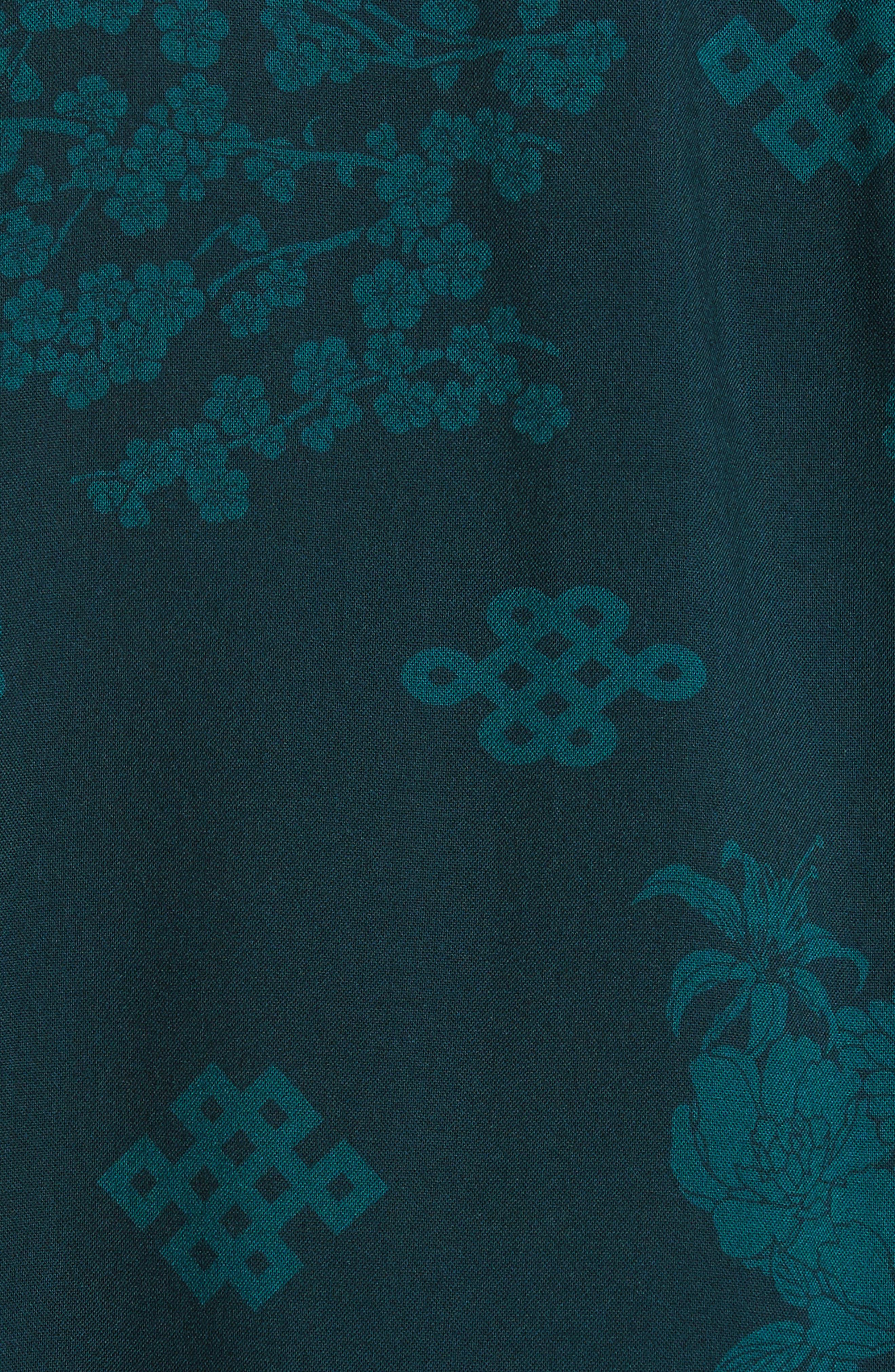 x The North Face Men's Floral Print Camp Shirt,                             Alternate thumbnail 6, color,                             300