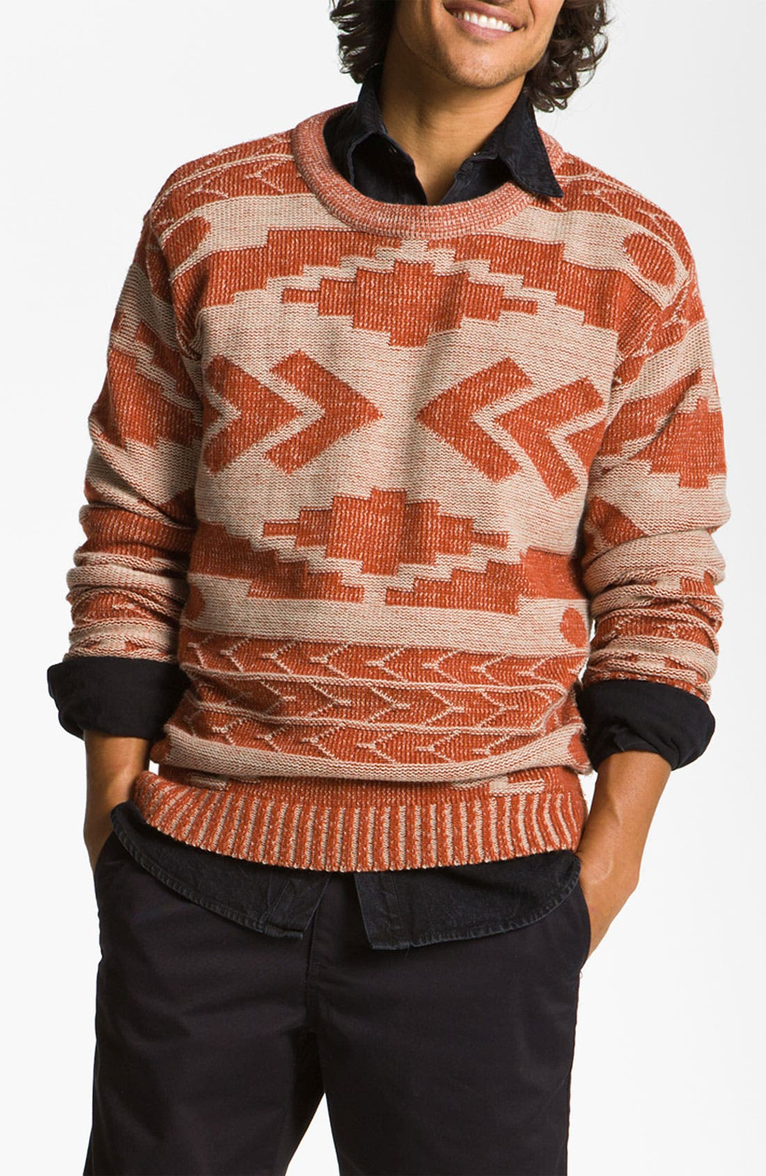 'Geronimo' Pattern Knit Sweater, Main, color, 110