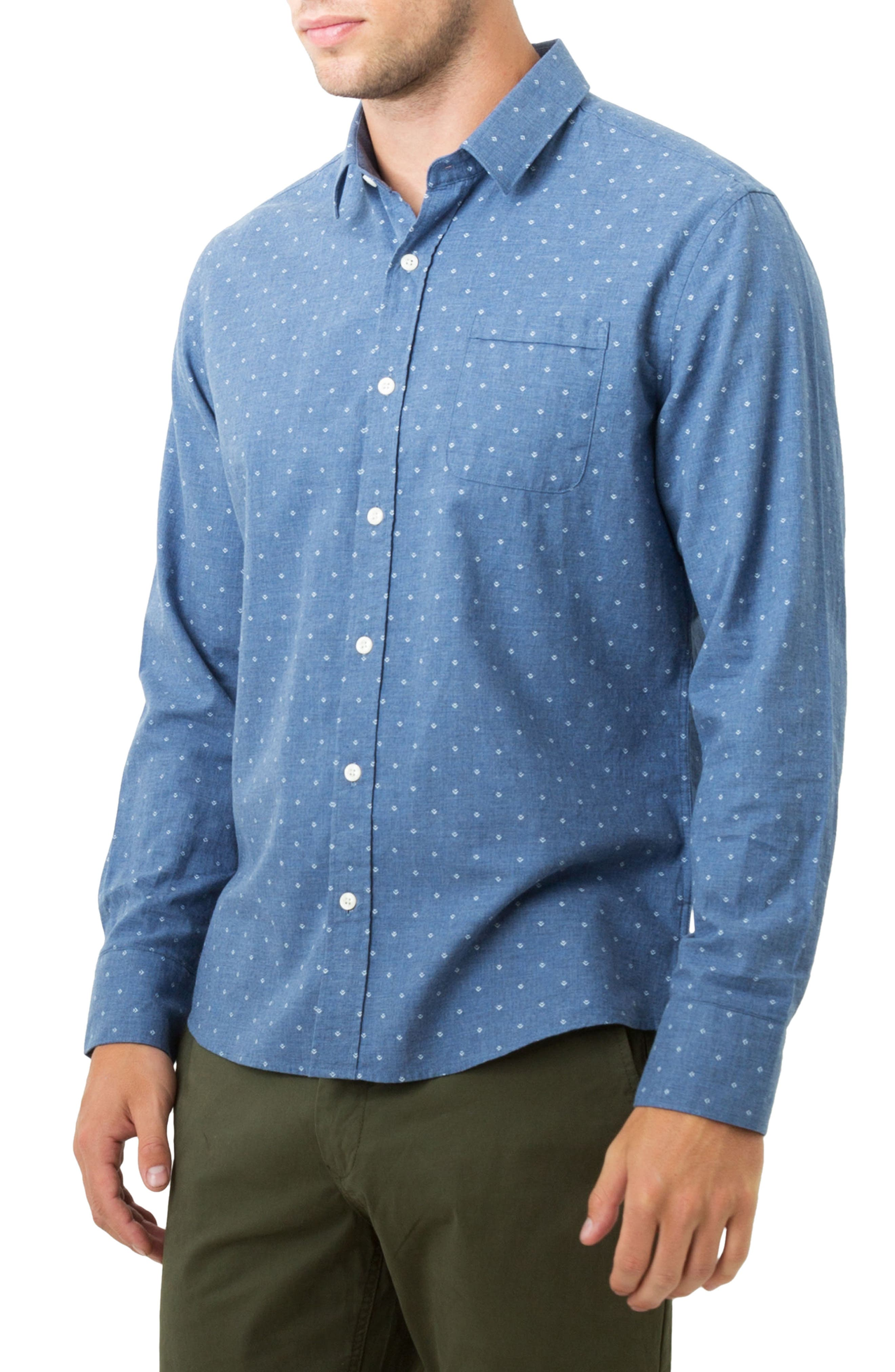Madison Blues Woven Shirt,                             Alternate thumbnail 3, color,                             410