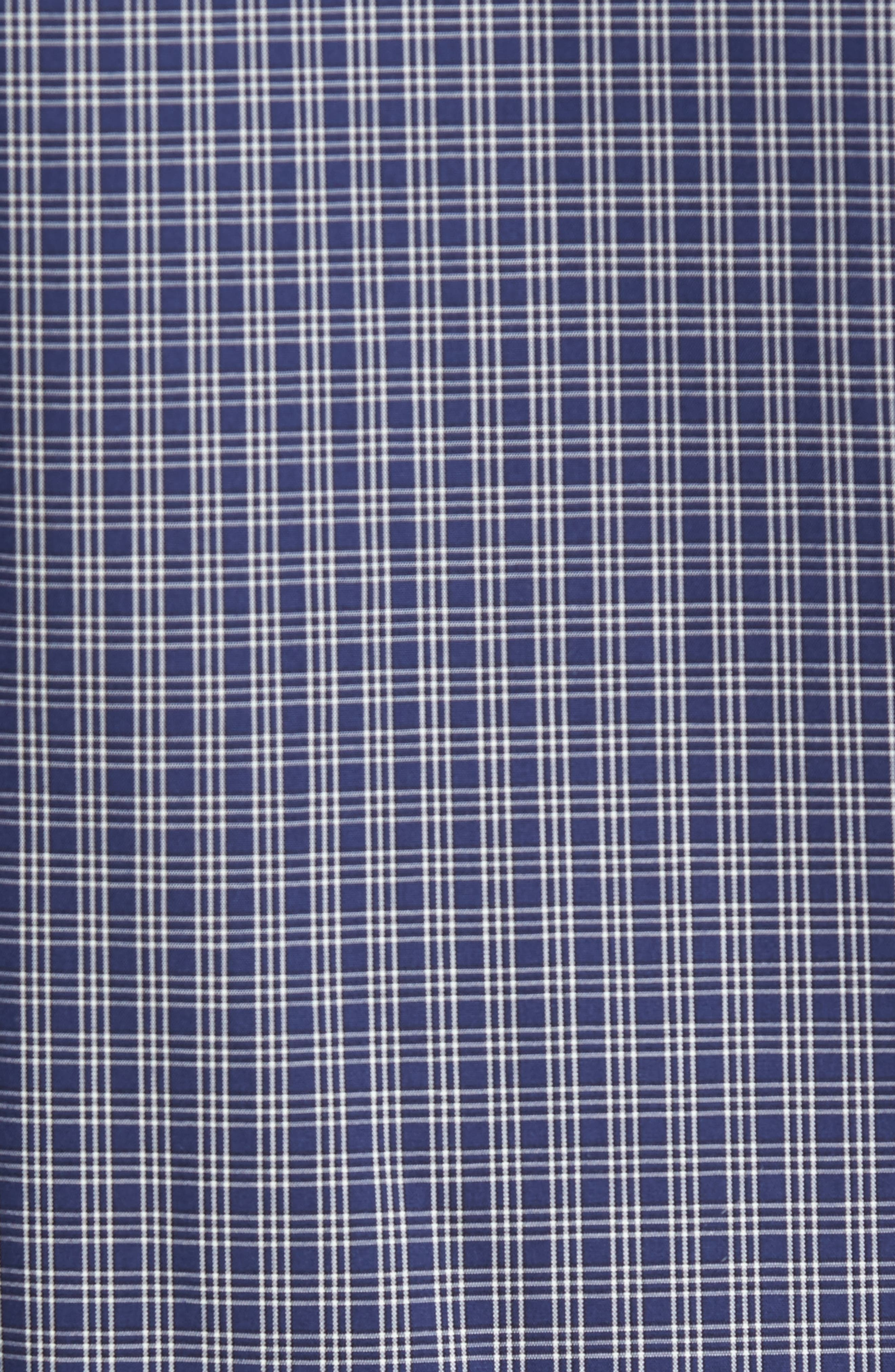 Regular Fit Non-Iron Mini Check Sport Shirt,                             Alternate thumbnail 5, color,                             410