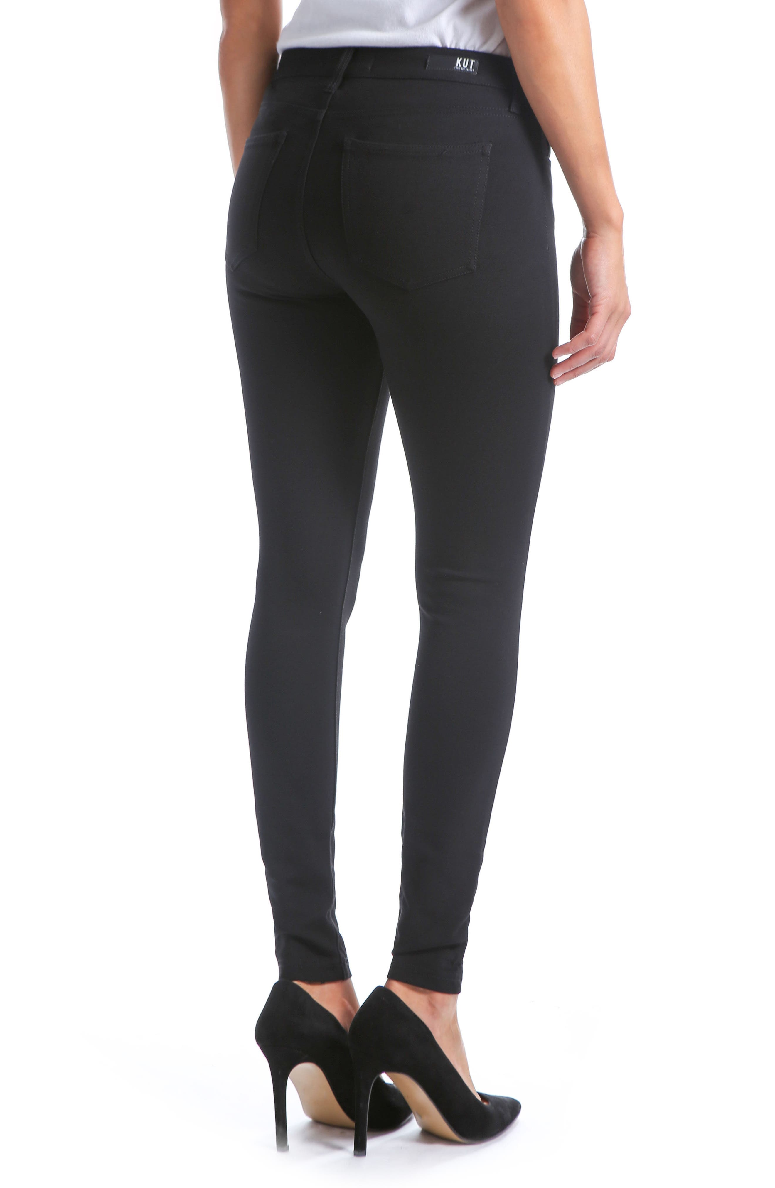 KUT FROM THE KLOTH,                             Donna High Waist Ponte Skinny Pants,                             Alternate thumbnail 2, color,                             002