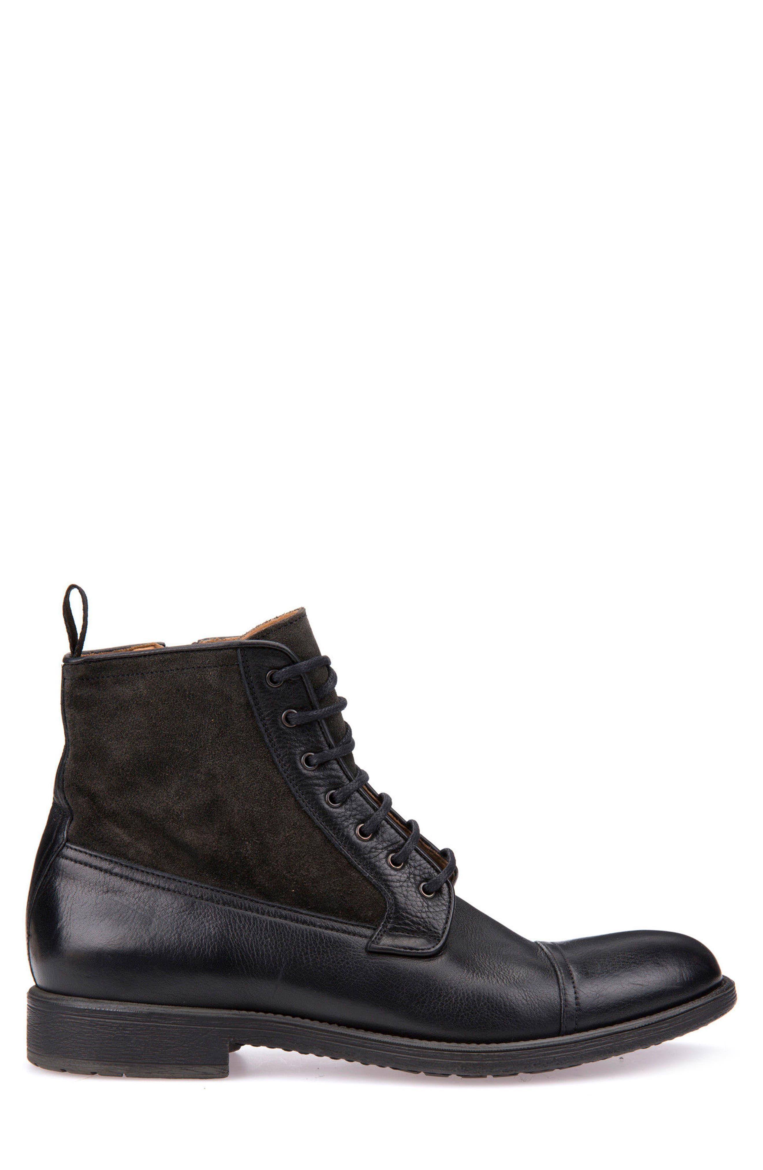 Jaylon 12 Cap-Toe Boot,                             Alternate thumbnail 3, color,                             001