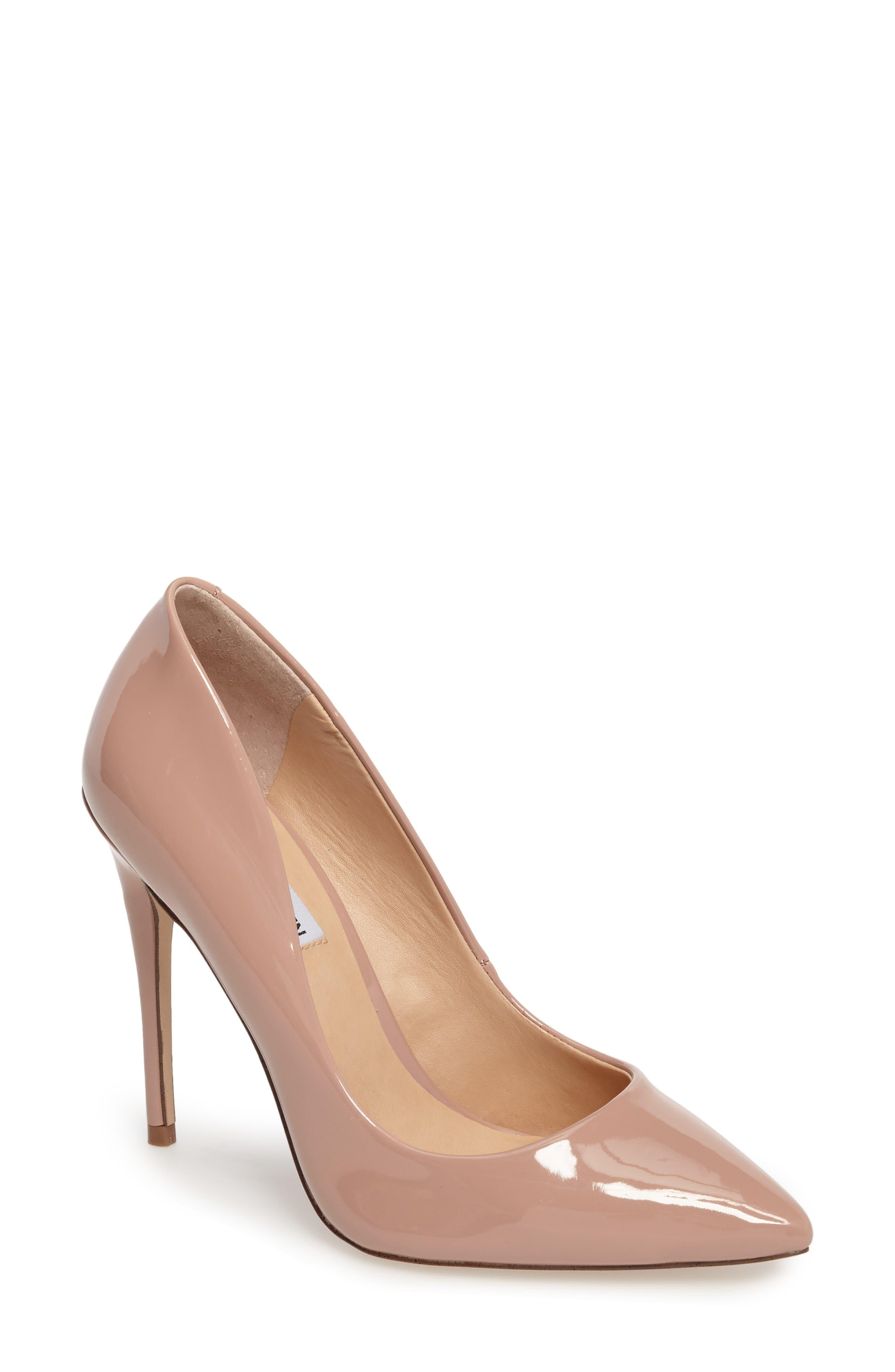 low vamp heels
