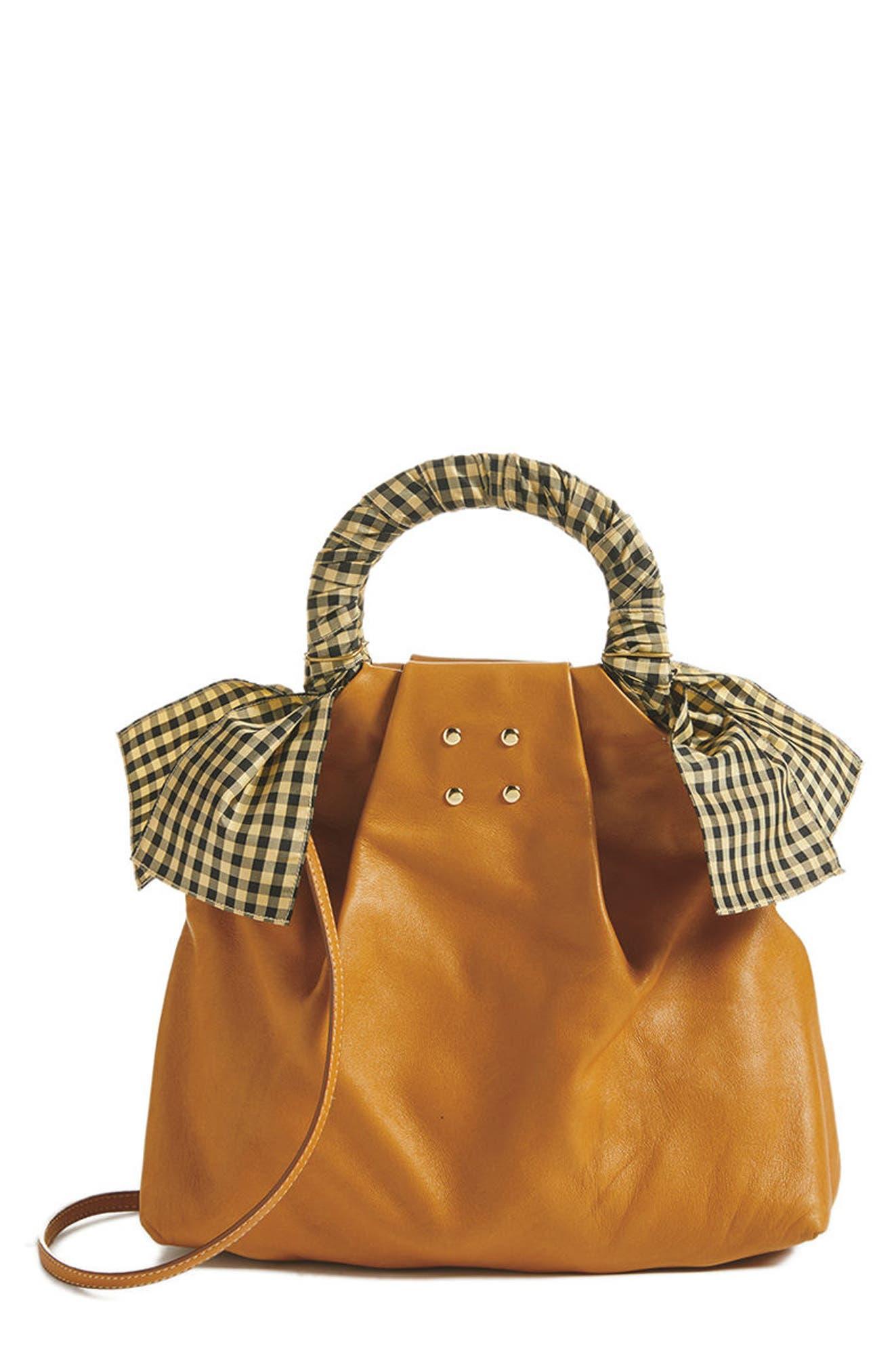 Hazel Leather Shopper,                             Alternate thumbnail 7, color,                             WHITE