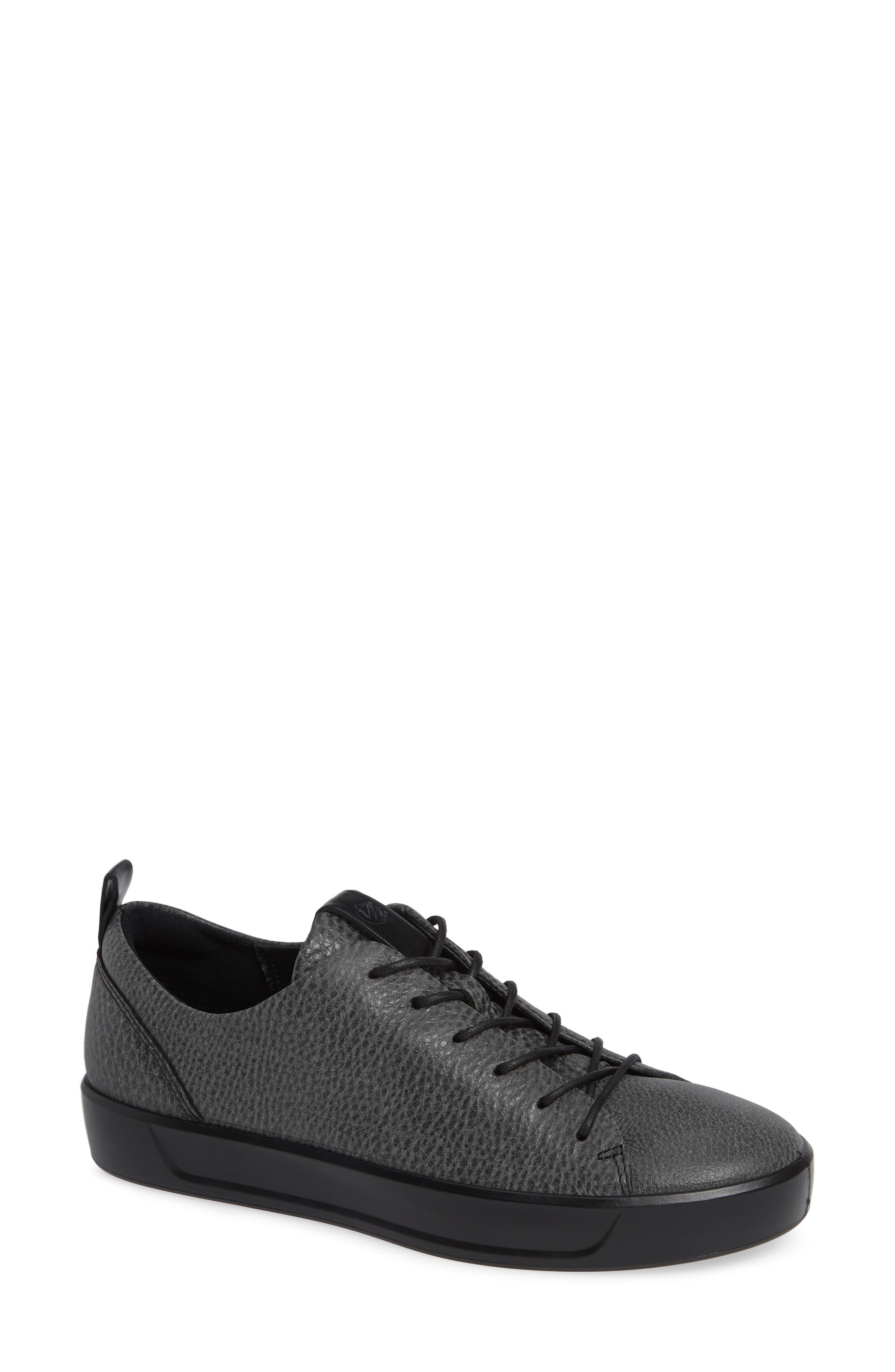 Soft 8 Sneaker,                         Main,                         color, BLACK/ BLACK LEATHER