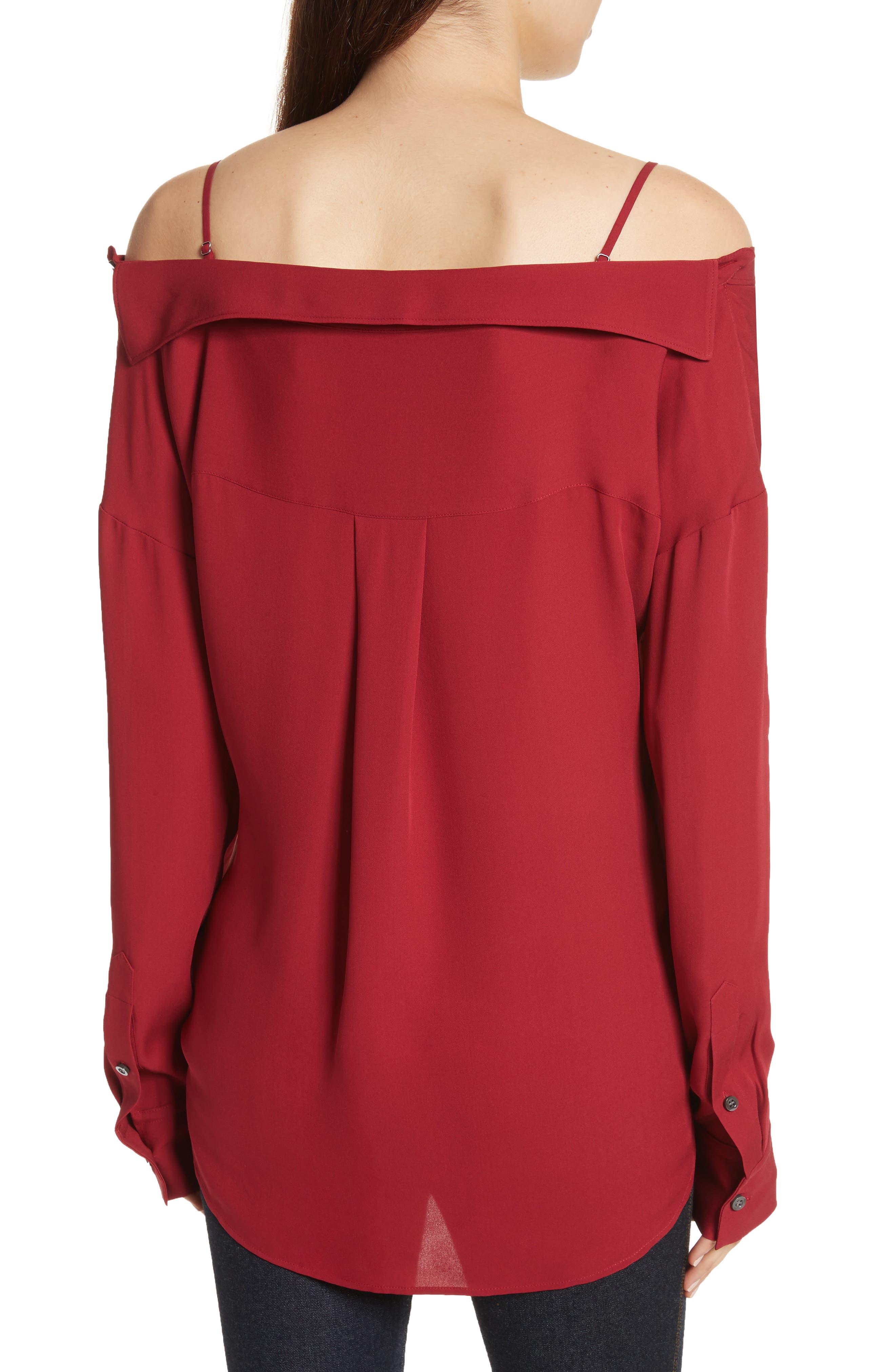 Tamalee Silk Shirt,                             Alternate thumbnail 6, color,