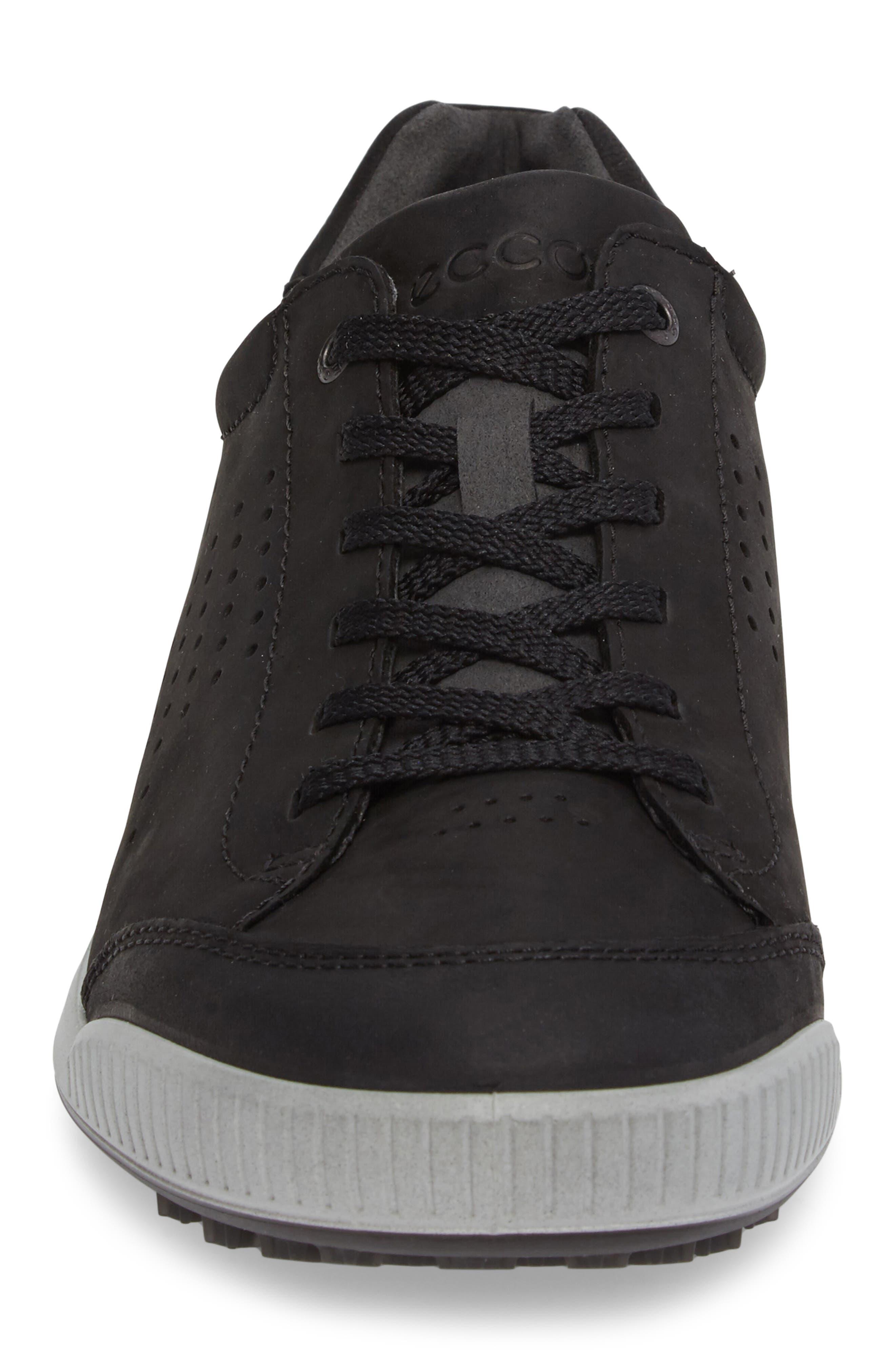 Street Retro HM Golf Shoe,                             Alternate thumbnail 4, color,                             BLACK