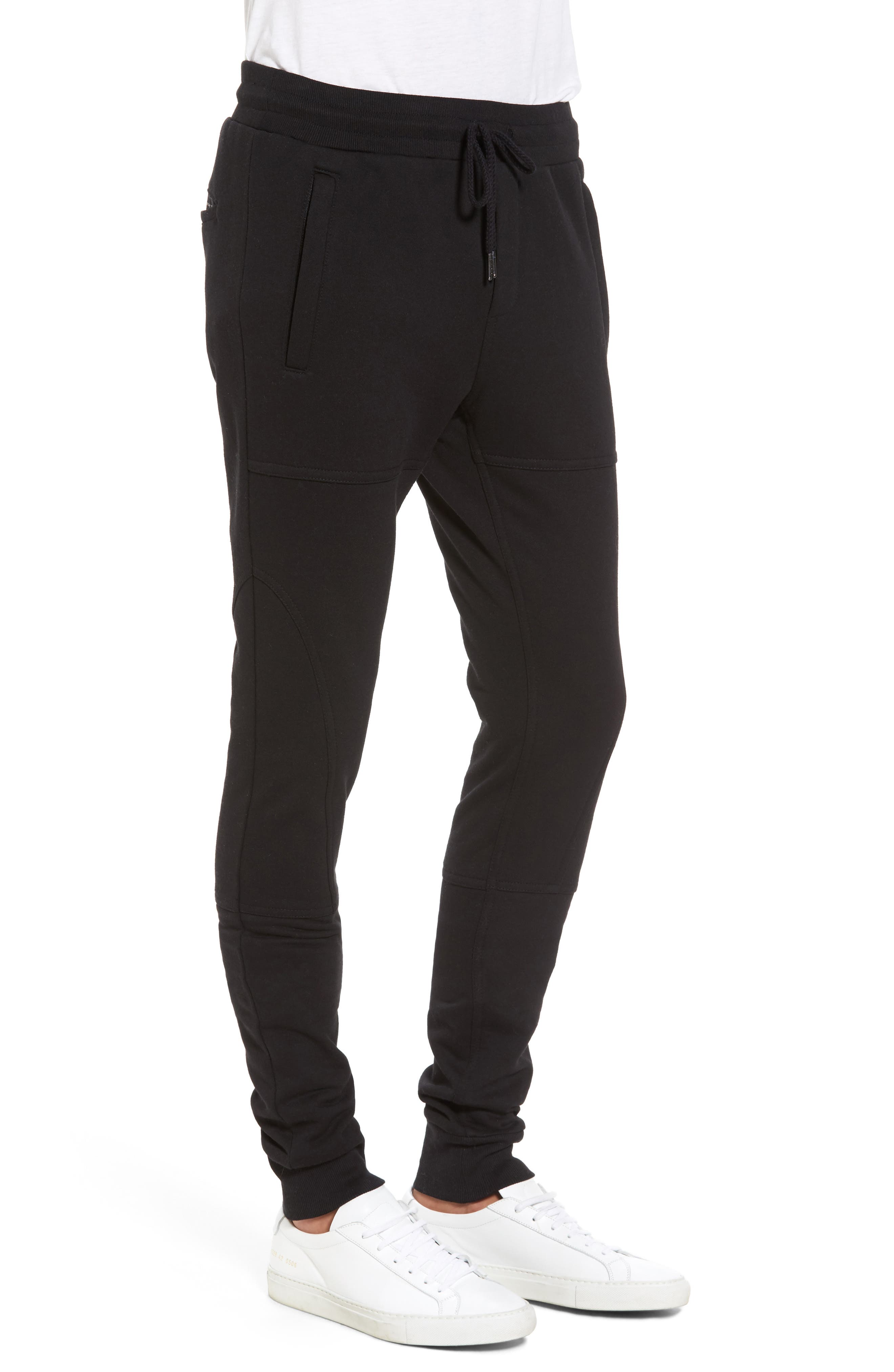 French Terry Sweatpants,                             Alternate thumbnail 3, color,                             001
