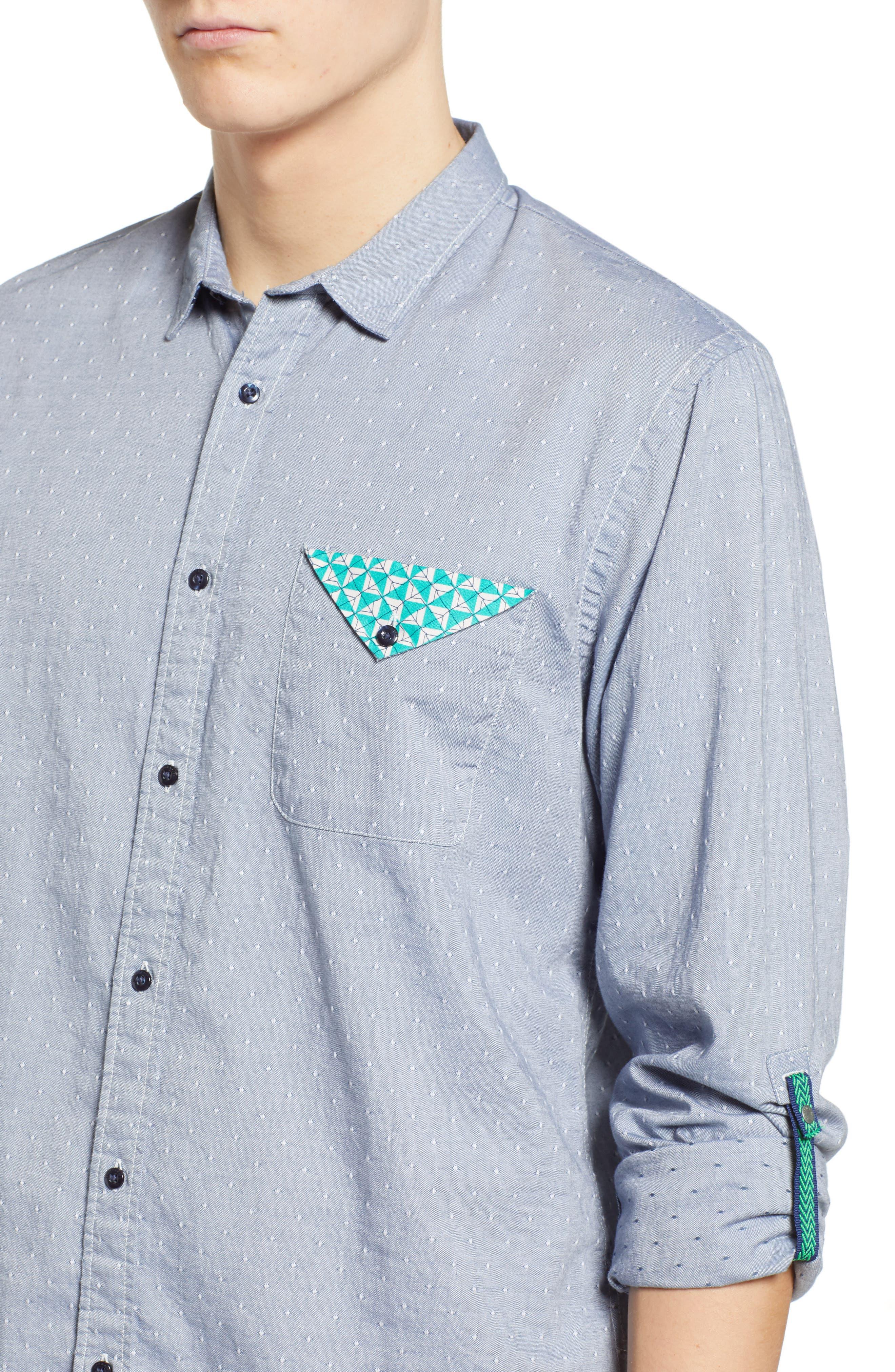 Dobby Sport Shirt,                             Alternate thumbnail 2, color,                             COMBO F