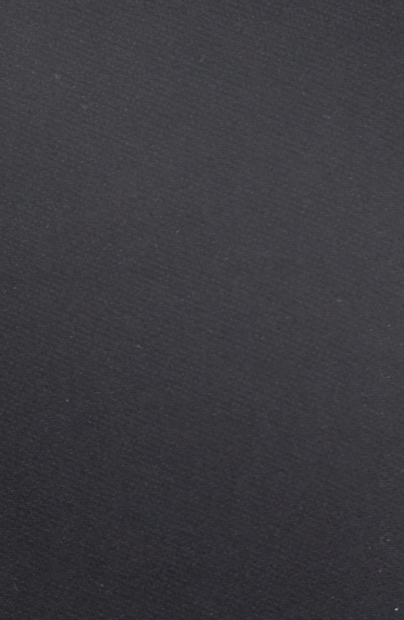 Raw Hem Panel Cady Dress,                             Alternate thumbnail 5, color,                             001