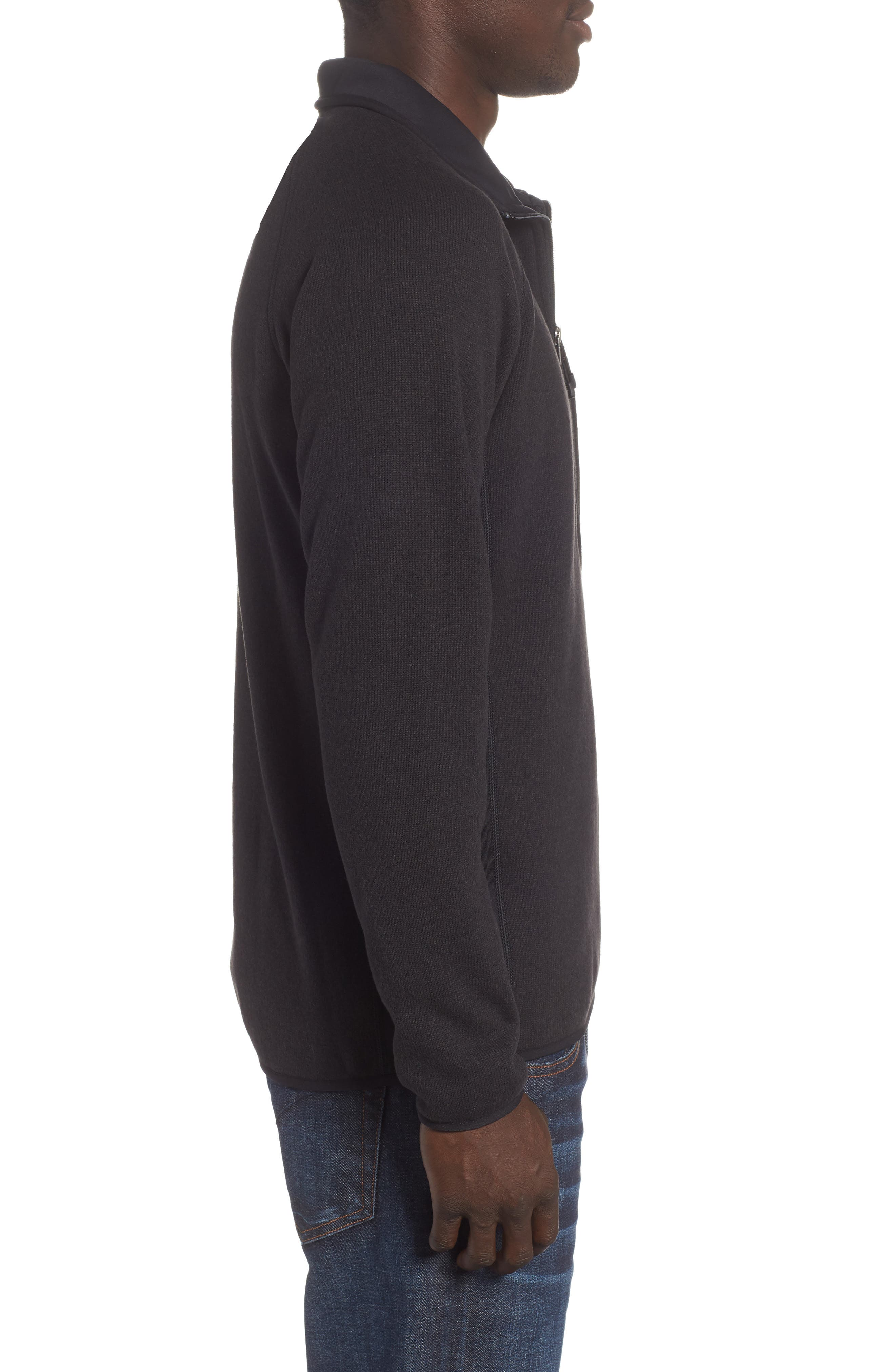 Better Sweater<sup>®</sup> Performance Slim Quarter-Zip Pullover,                             Alternate thumbnail 3, color,                             BLACK