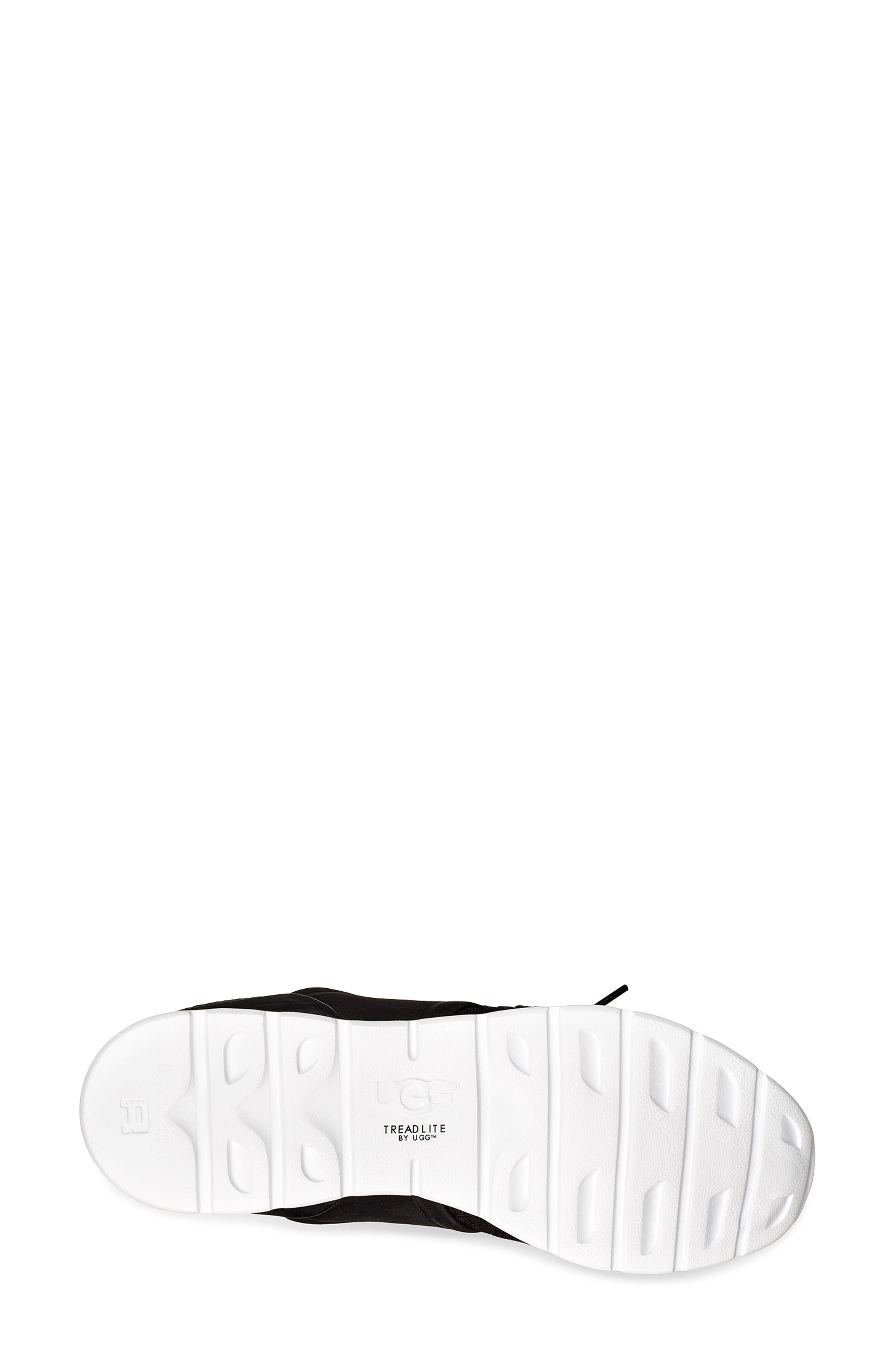 UGG<SUP>®</SUP>,                             Willows Sneaker,                             Alternate thumbnail 5, color,                             BLACK