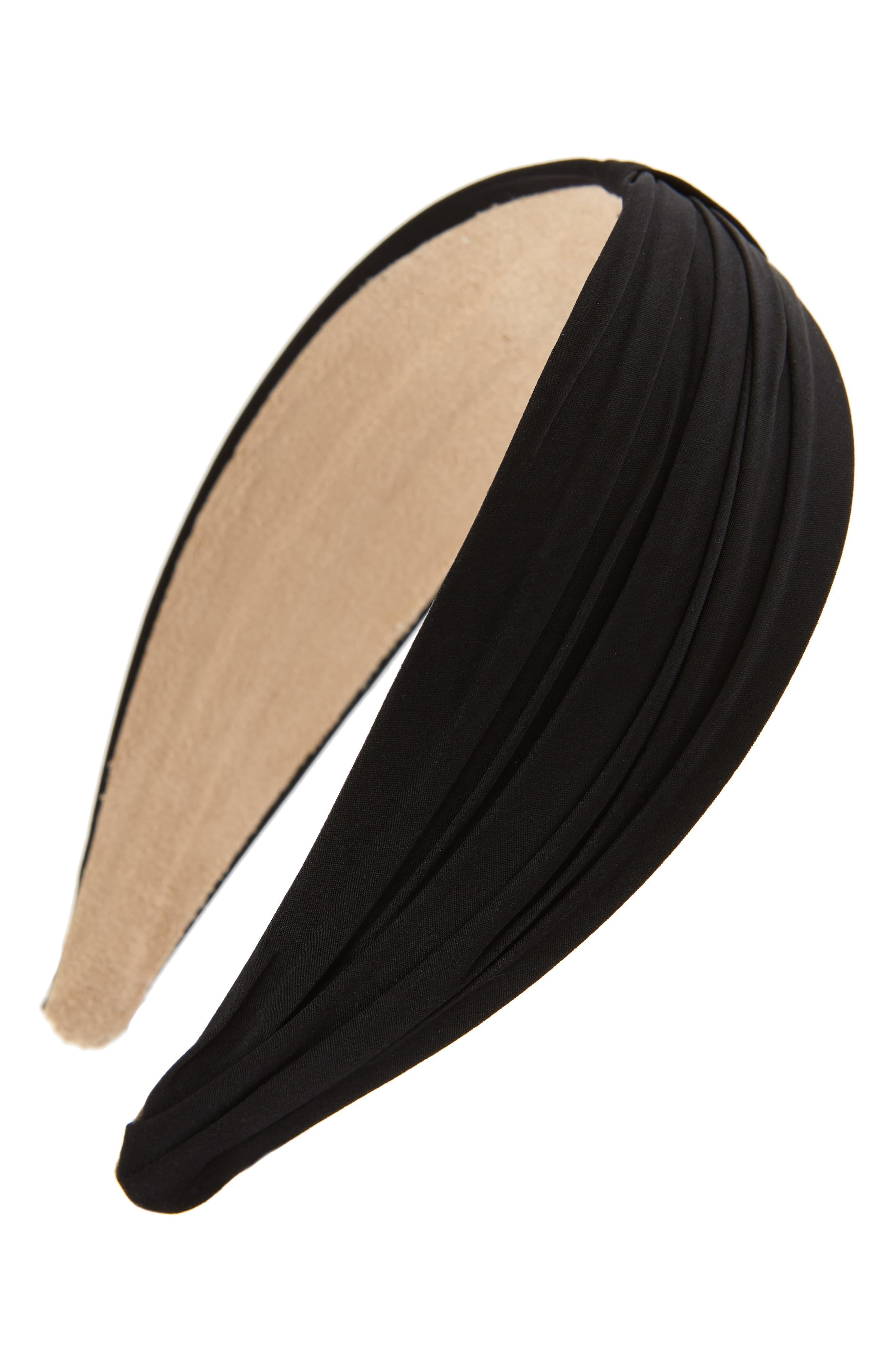 Pleated Basic Headband,                             Main thumbnail 1, color,                             001
