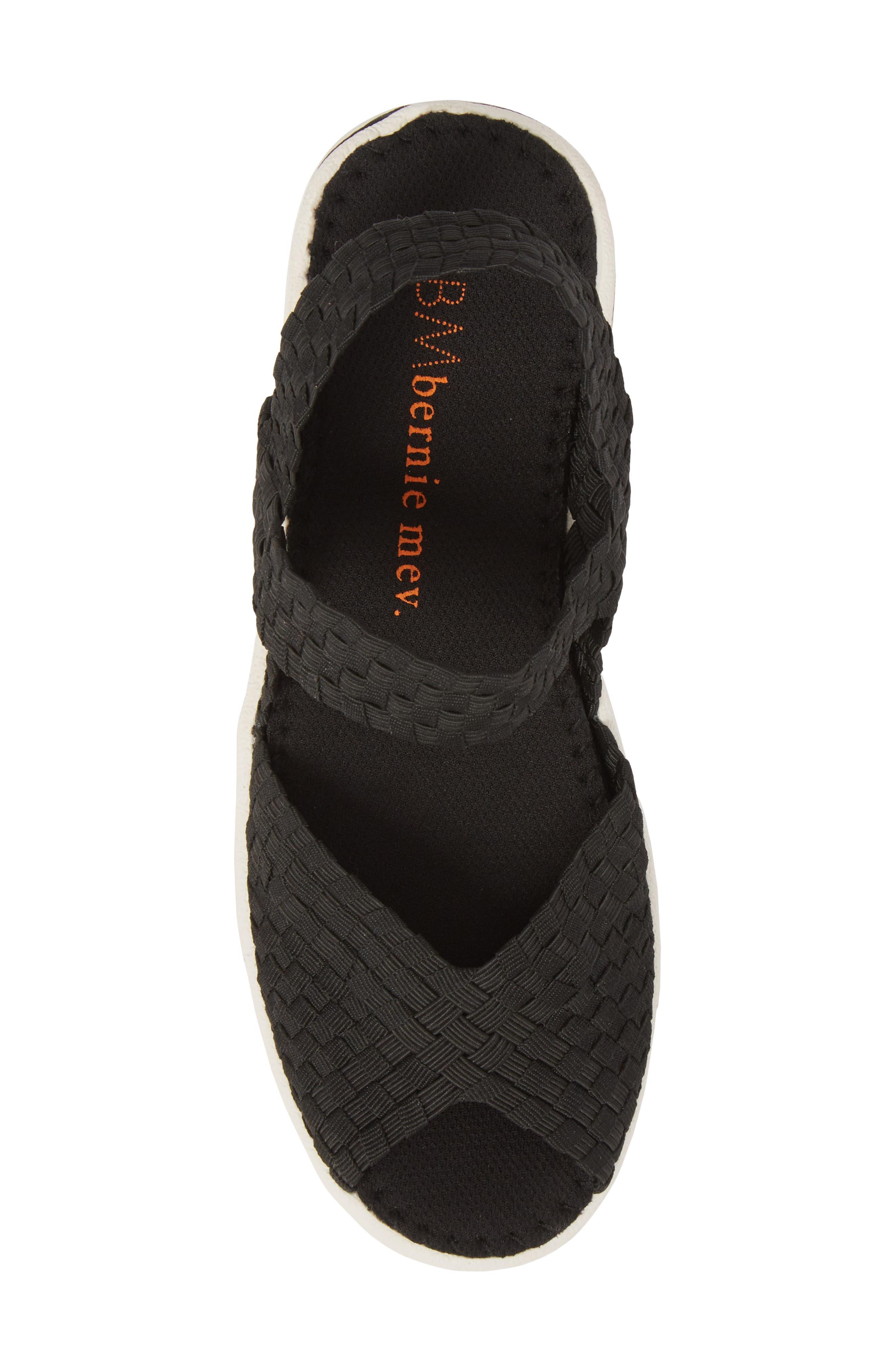 Lux Garden Sandal,                             Alternate thumbnail 5, color,                             BLACK FABRIC