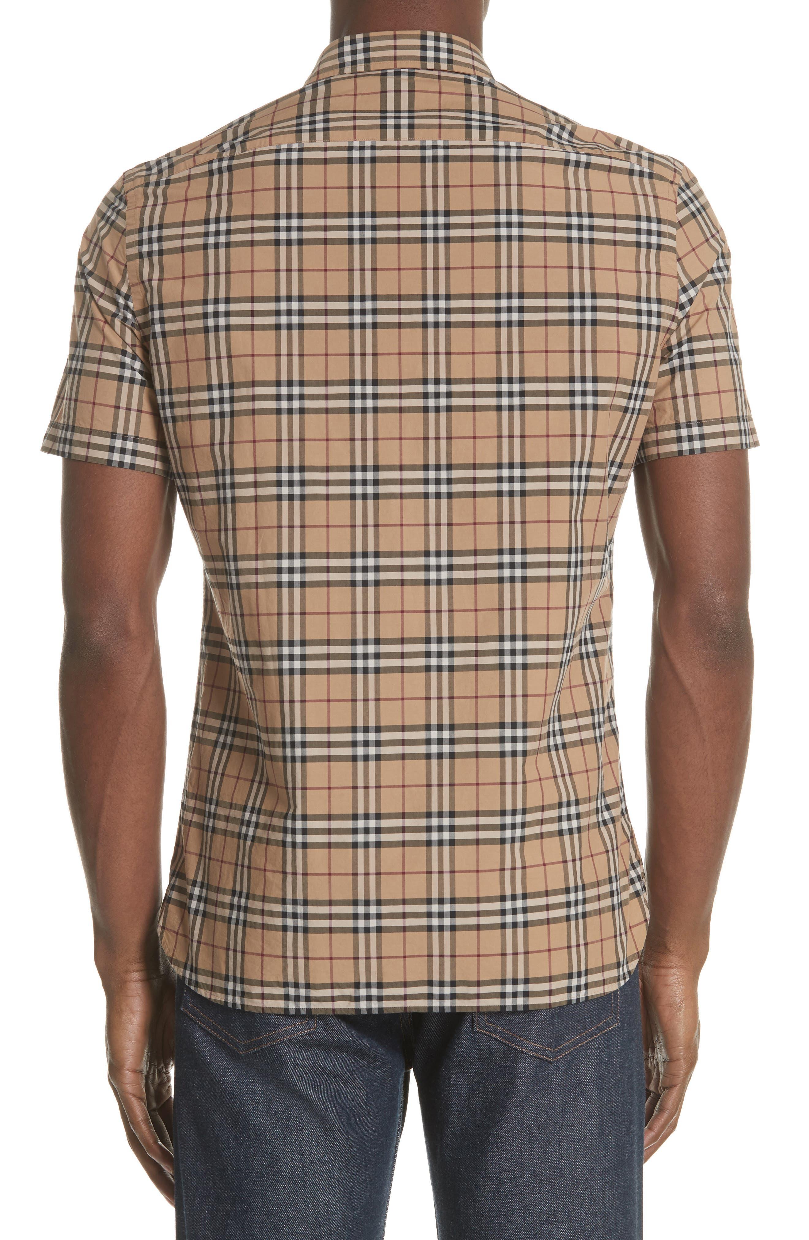 Alexander Check Sport Shirt,                             Alternate thumbnail 2, color,                             CAMEL