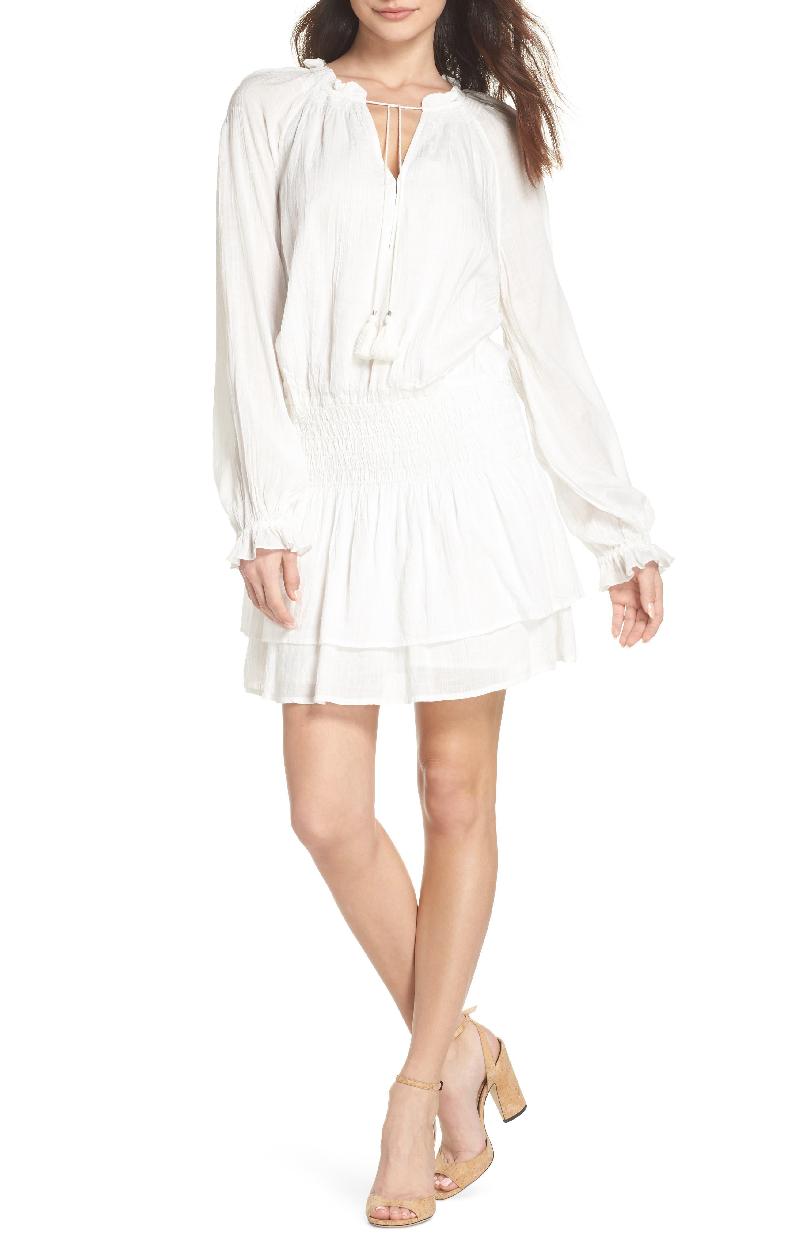 Lemay Peasant Dress,                         Main,                         color, 100