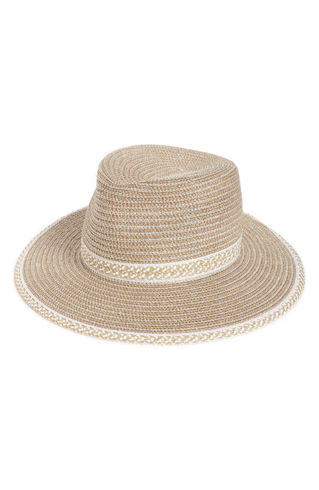 'Georgia' Woven Hat,                             Main thumbnail 1, color,                             100