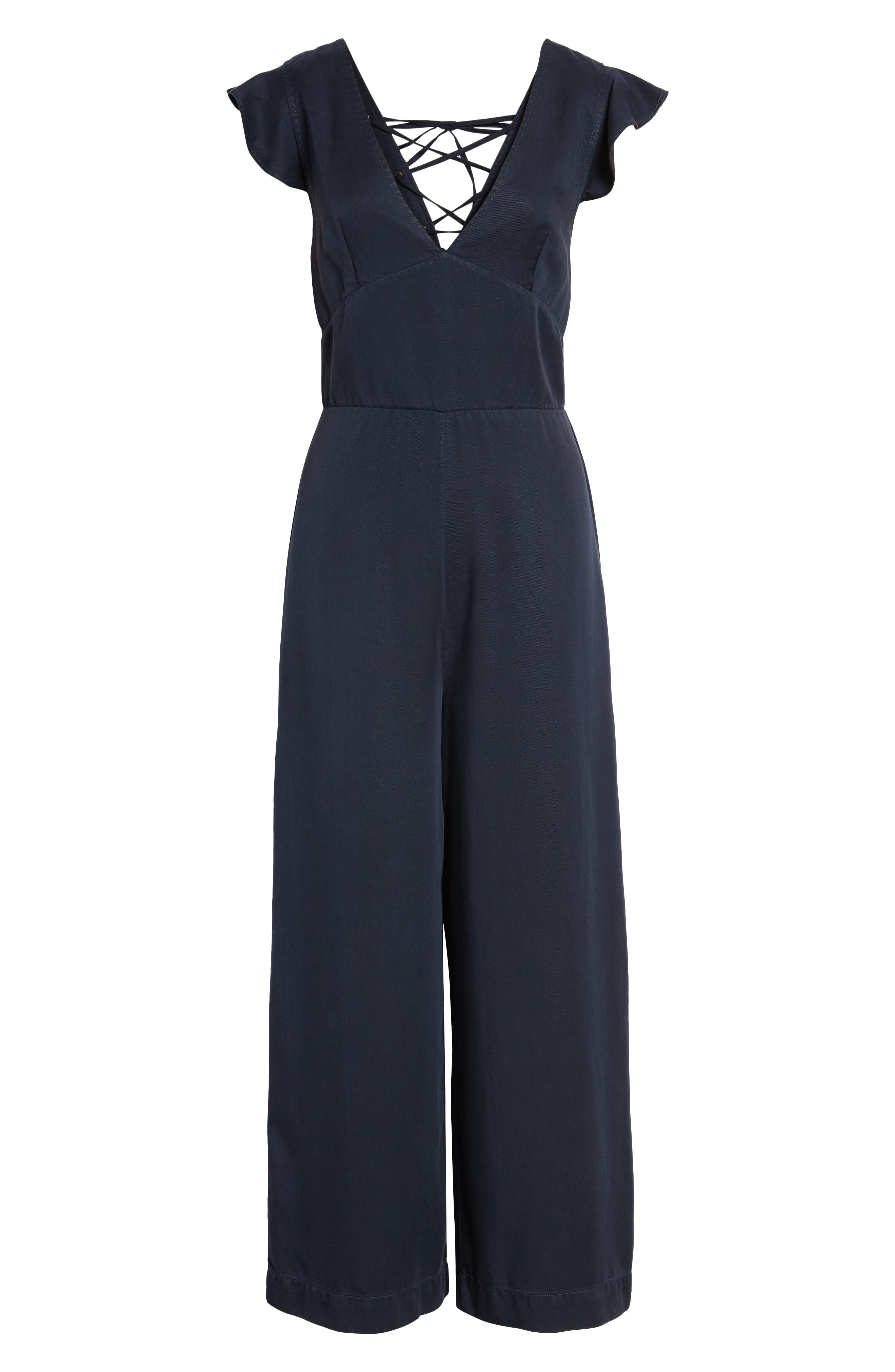 Ruffle Sleeve Jumpsuit,                             Alternate thumbnail 7, color,                             410